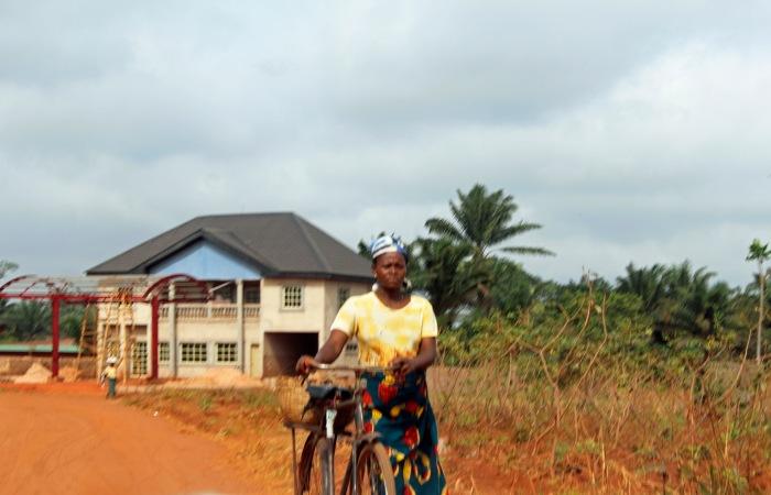 Bicyclist   Iheaka Village