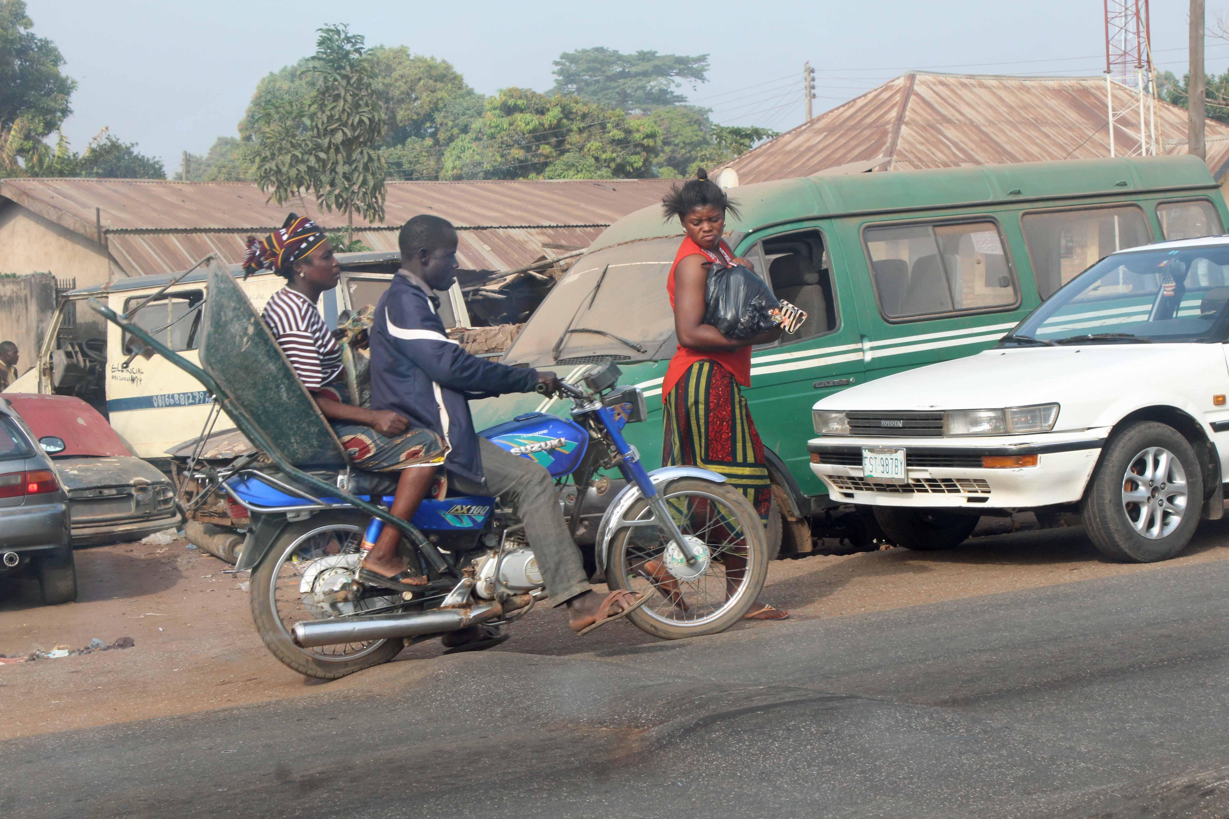 Motorcycling in Enugu Nigeria