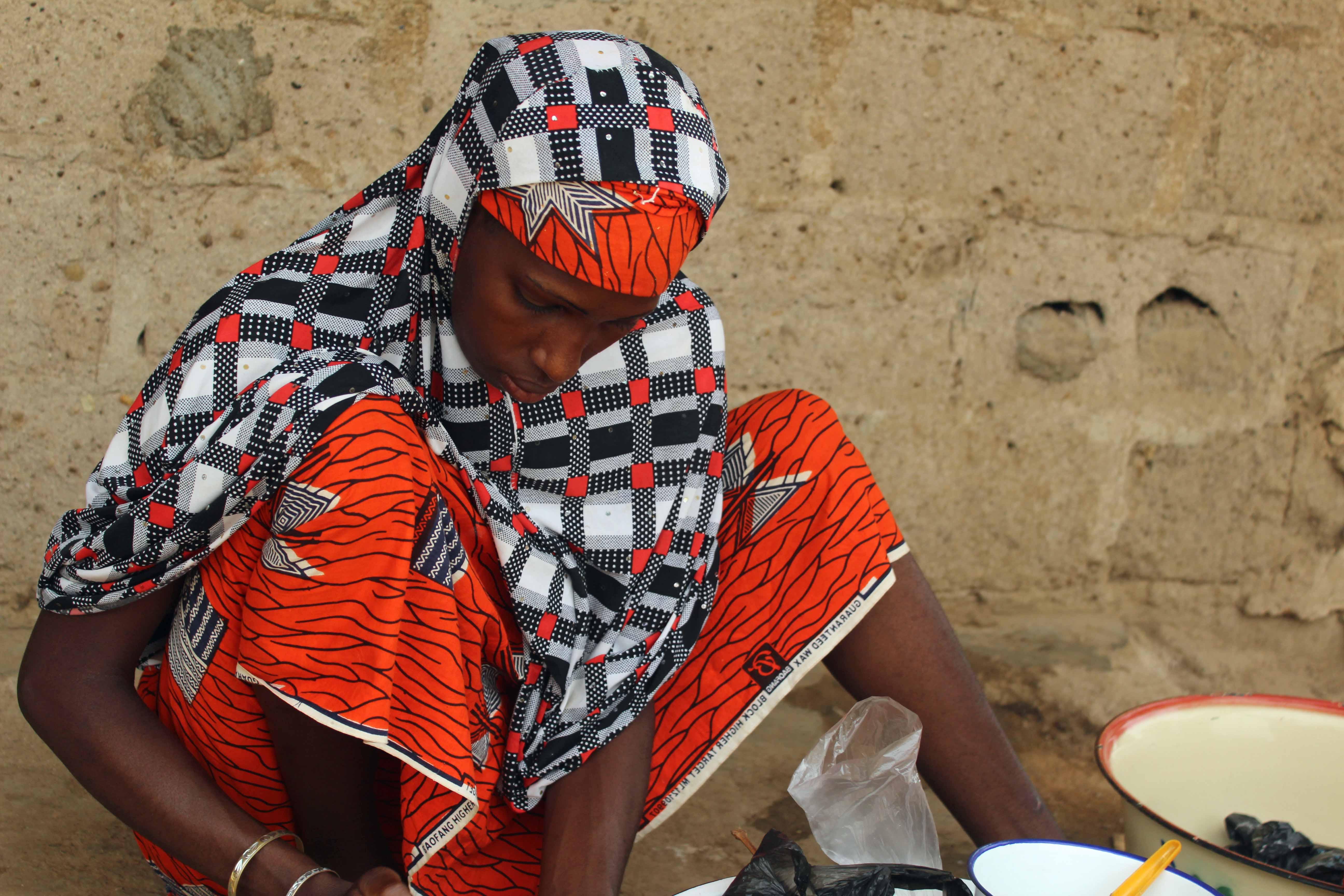 Fulani Girl Mixing Fura Da Nono