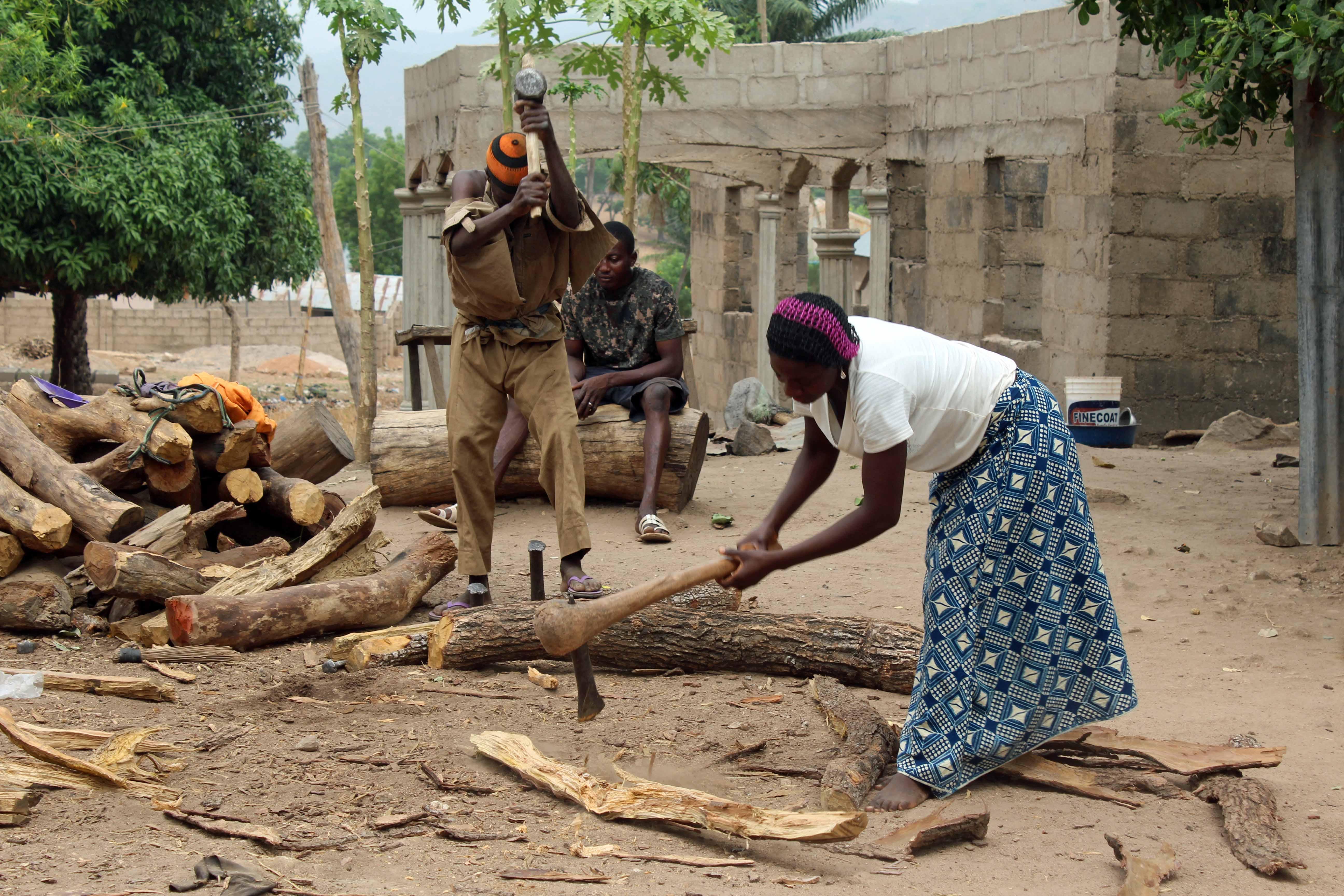 Chopping Wood Nasarawa Eggon Nigeria