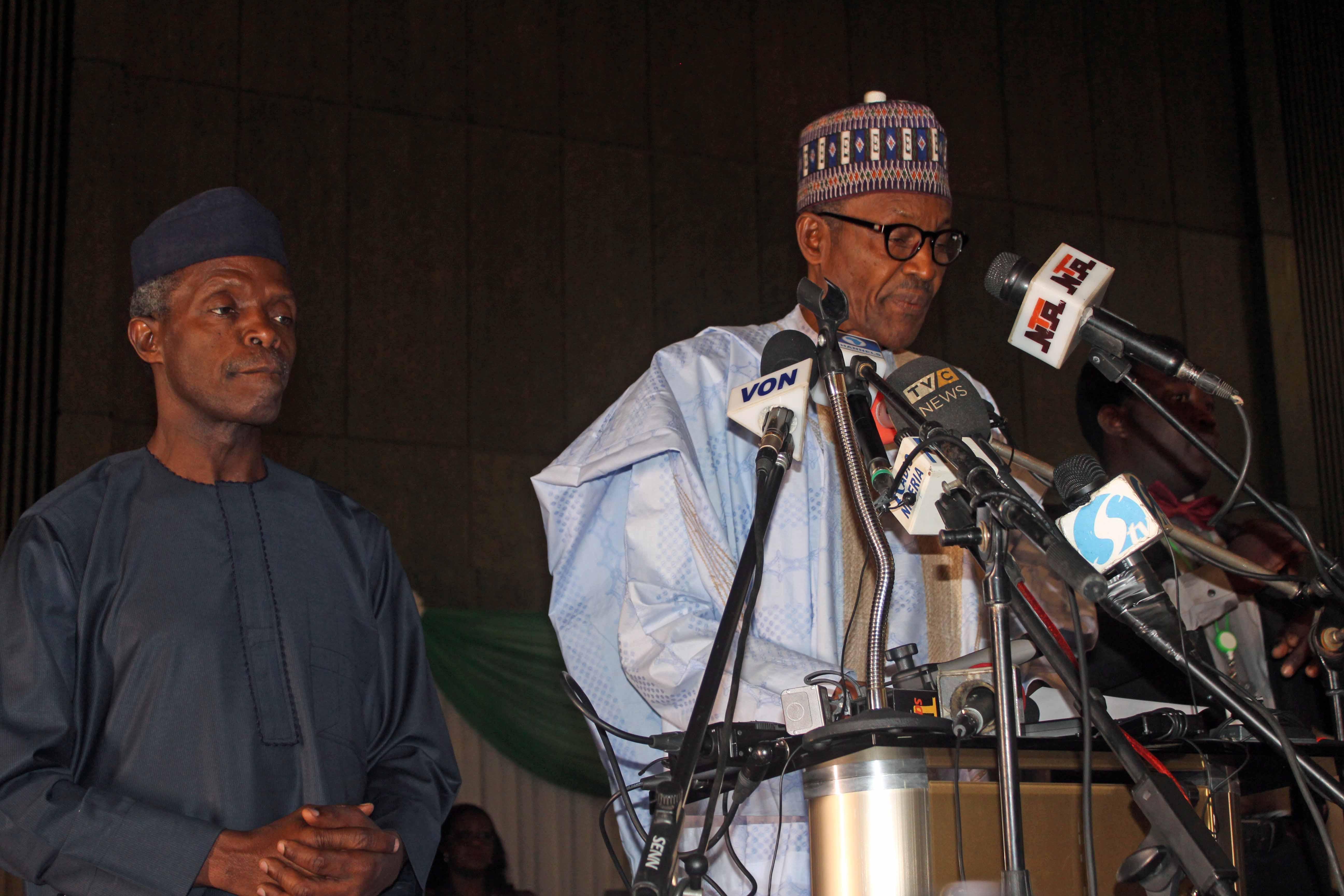 President & VP Elect Muhammadu Buhari & Yemi Osinbajo