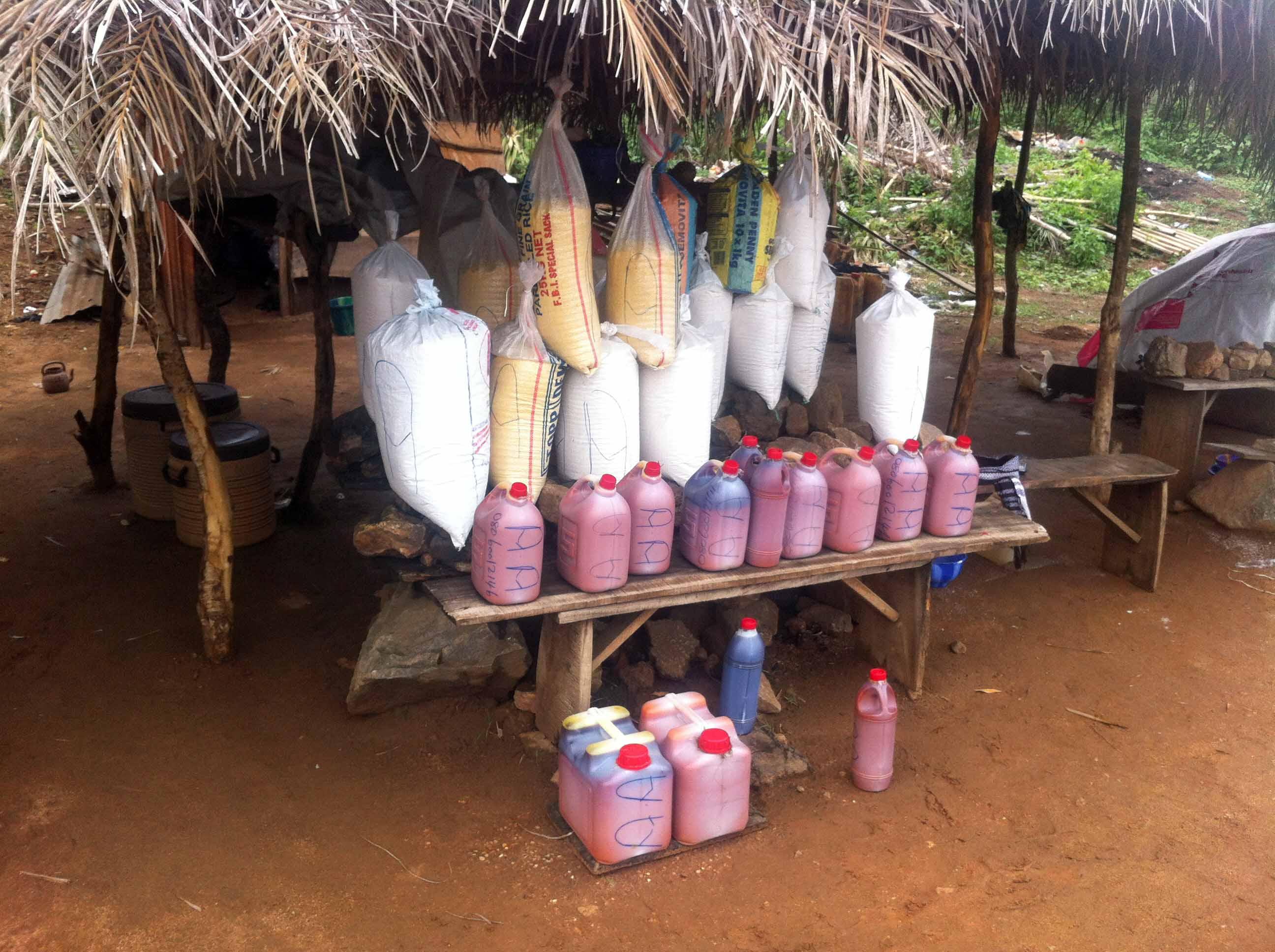 Roadside Market Palm Oil