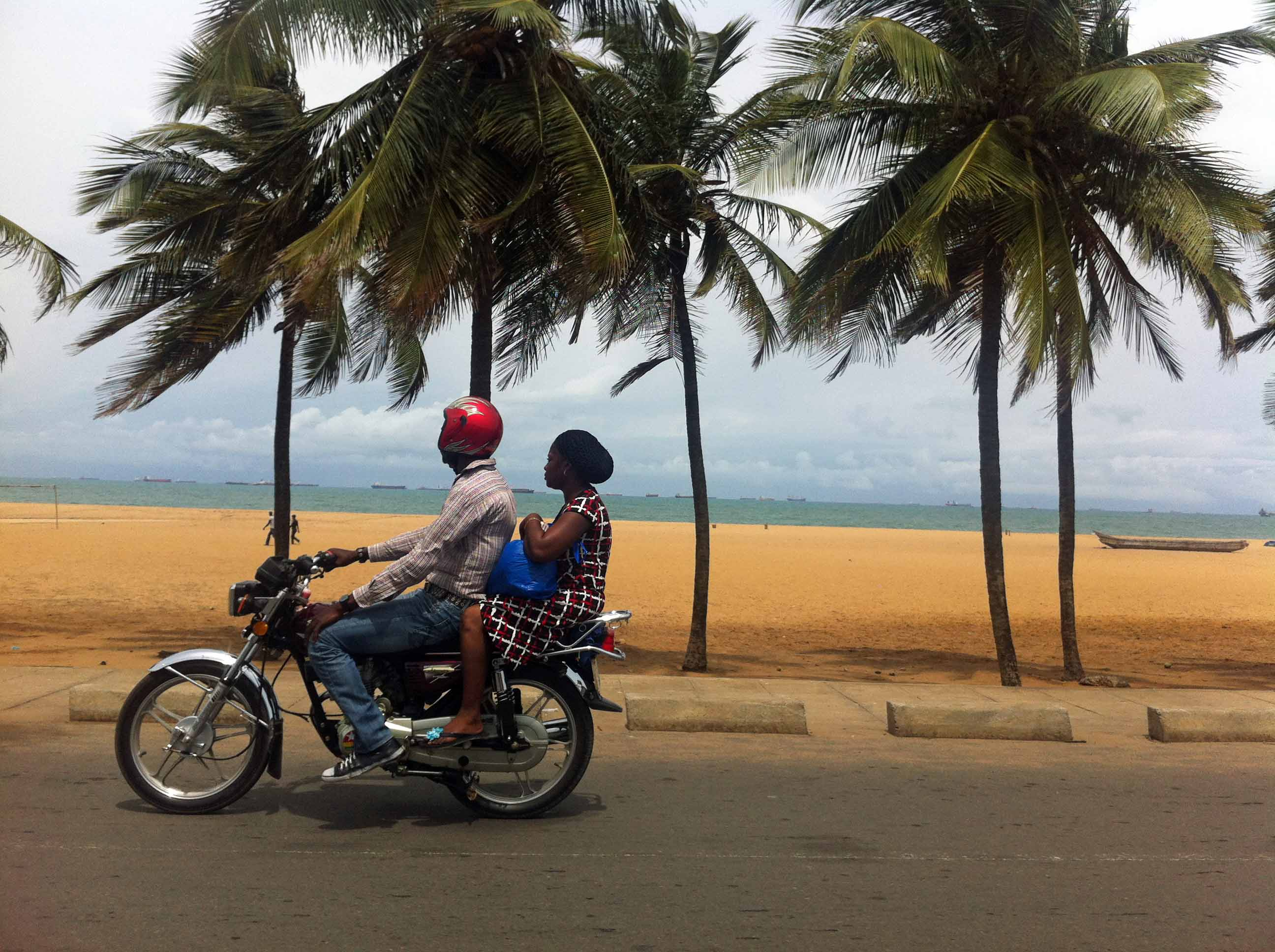 Motorcycling in Lome Togo