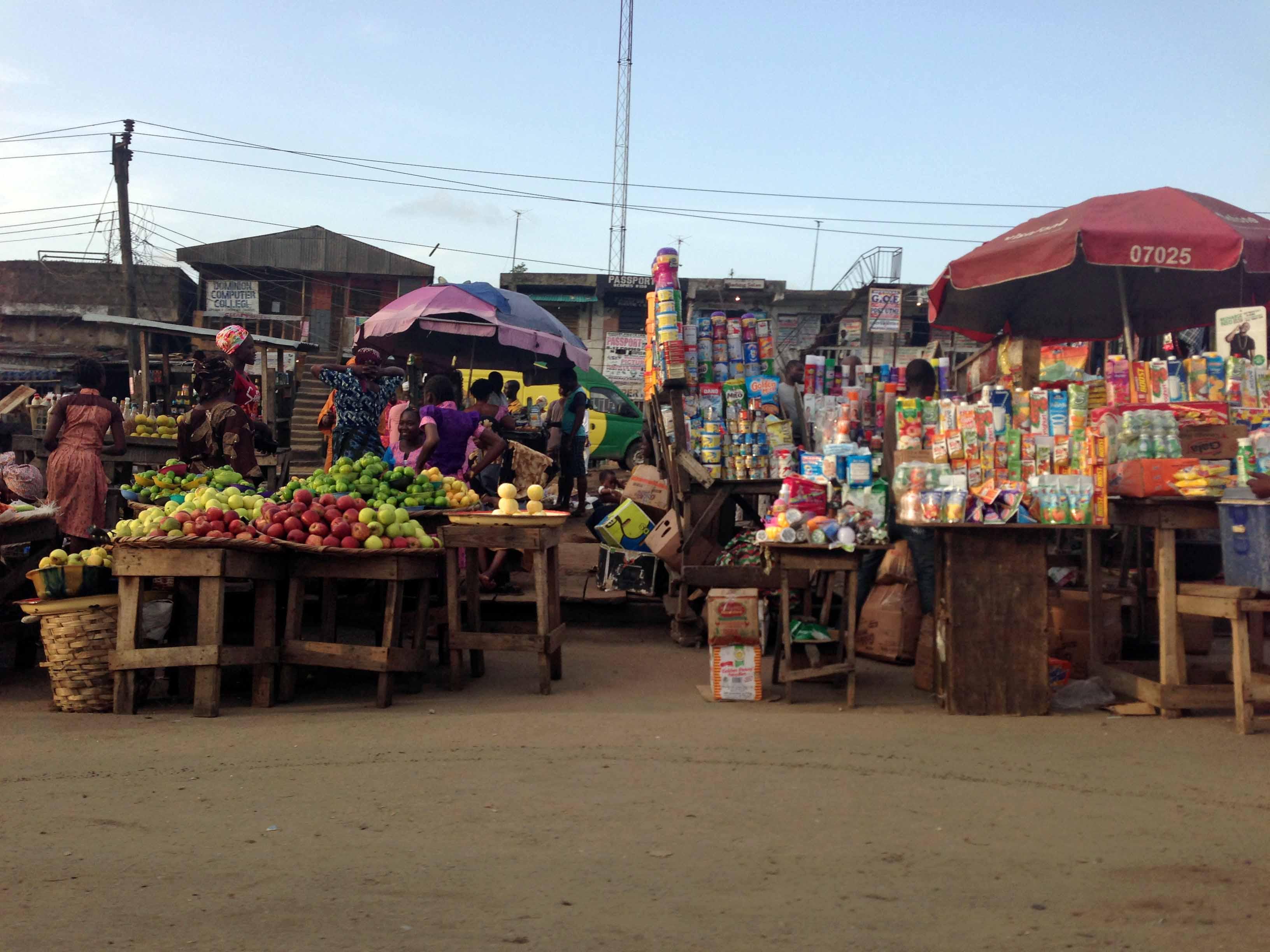 Street Market in Lagos