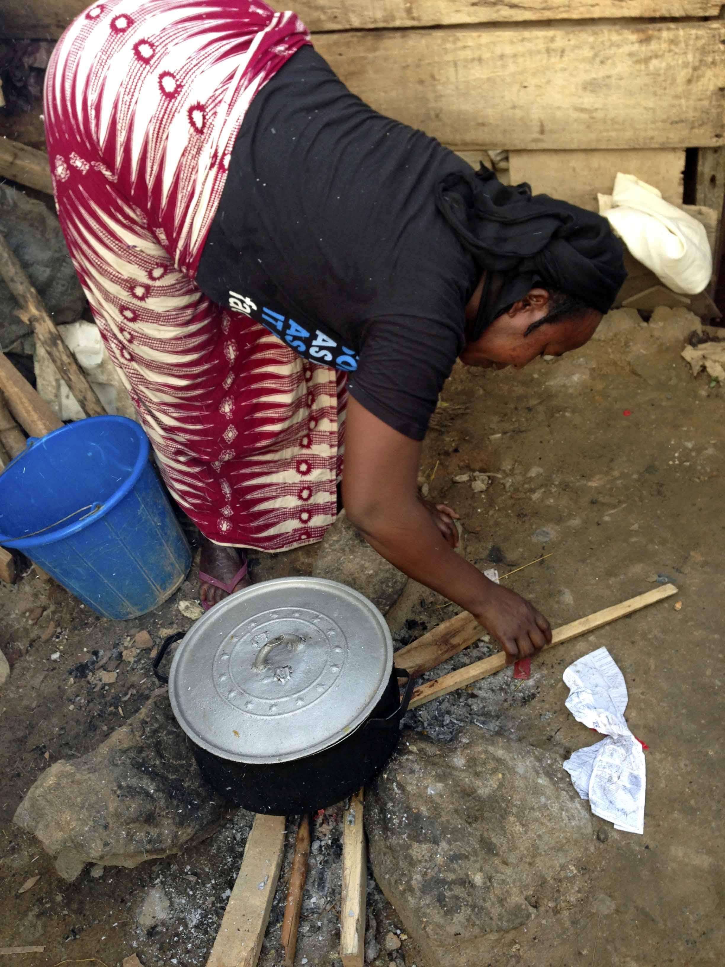Fulani Woman Cooking