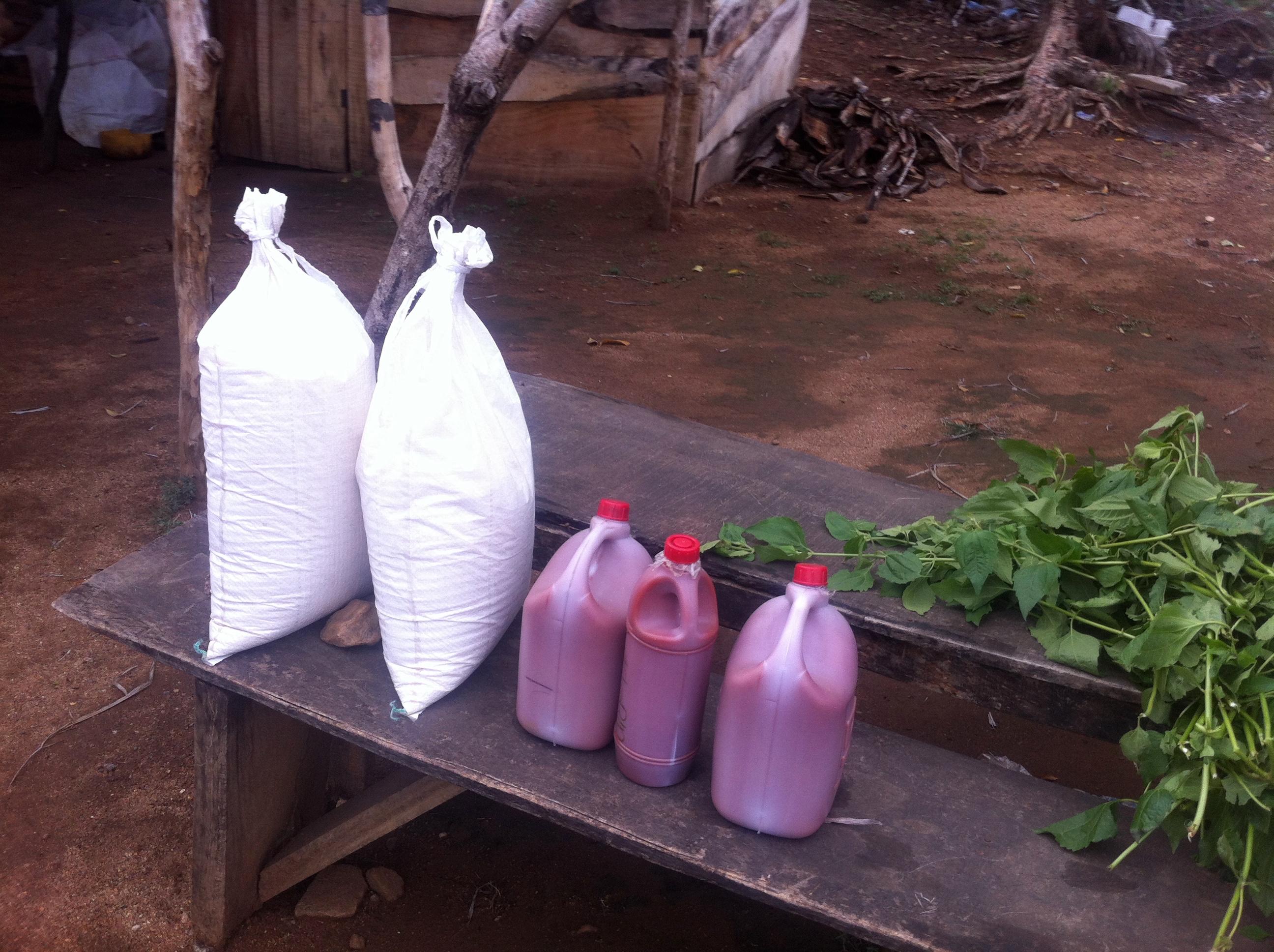 Roadside market Palm Oil Oka Ondo Nigeria