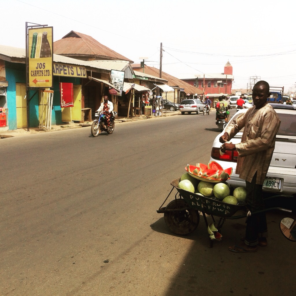 Watermelon street hawker in Isokun, Osun State, Nigeria. #JujuFilms