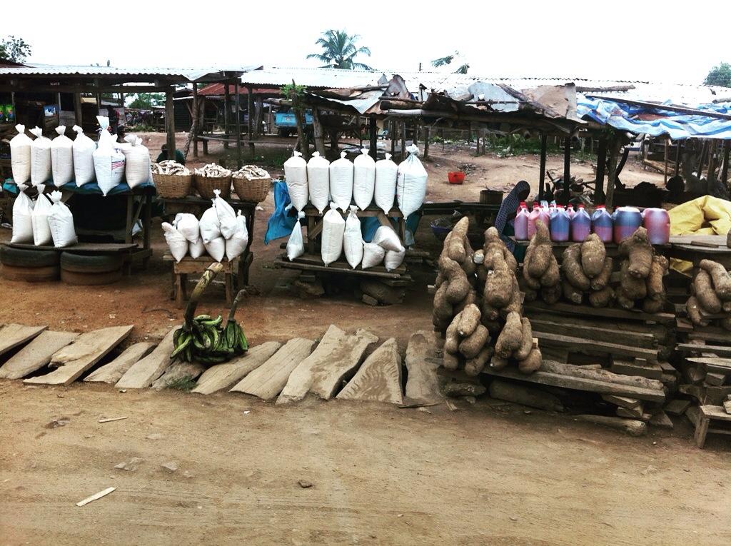 African Yams (Roadside Market)