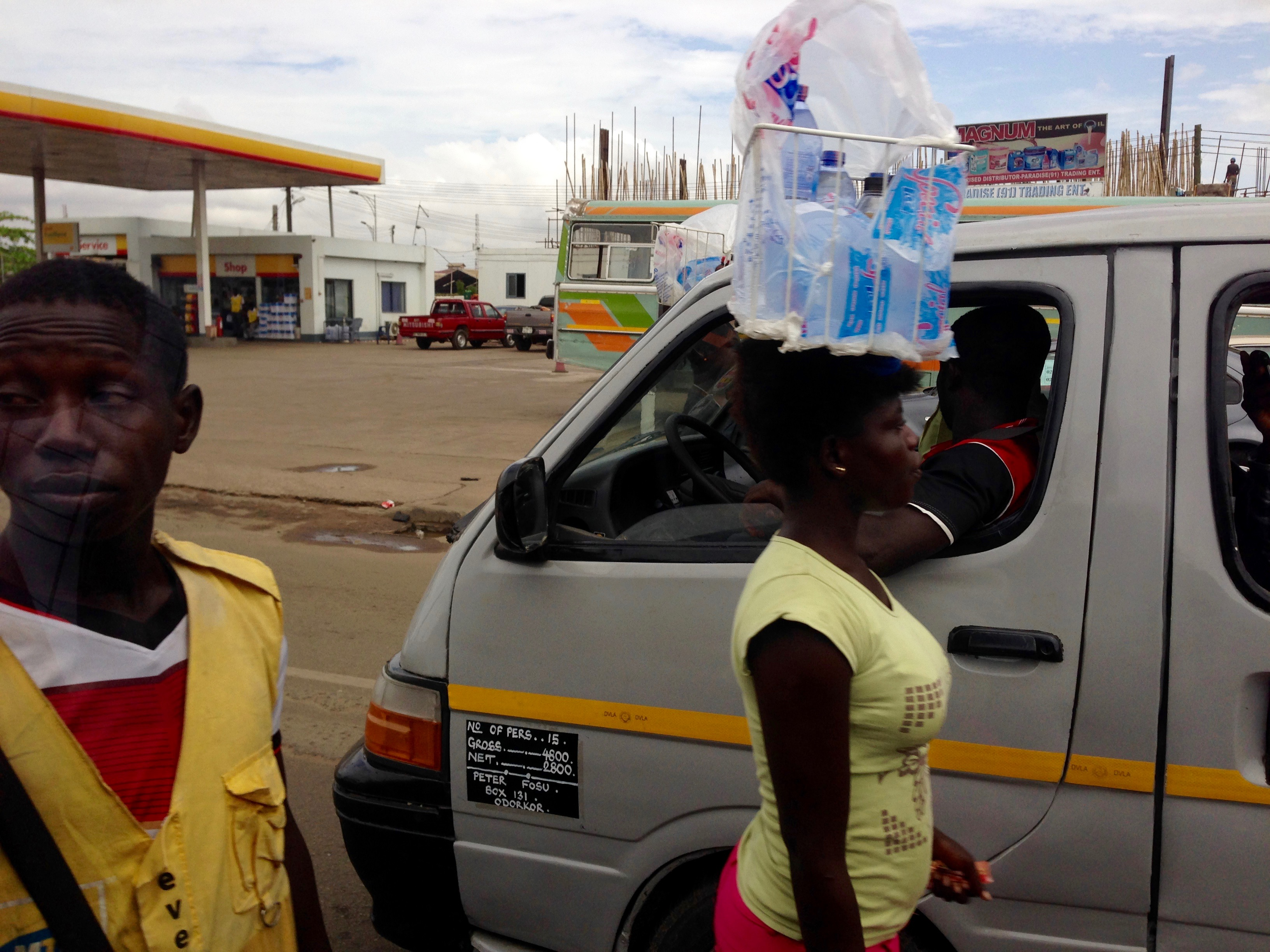 Roadside Hawking in Accra