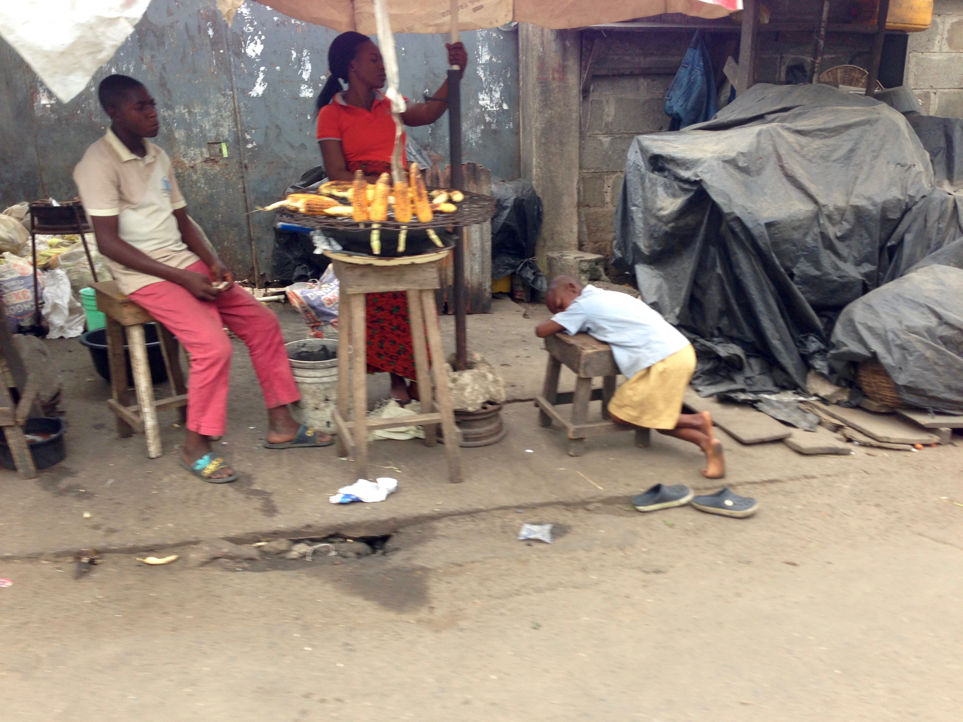 Street Food in Lagos Roast Corn