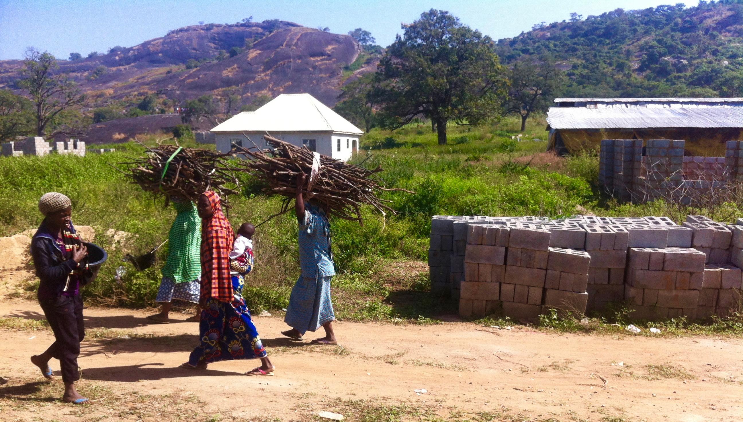 Fulani women fetching firewood in Ushafa Village, Nigeria
