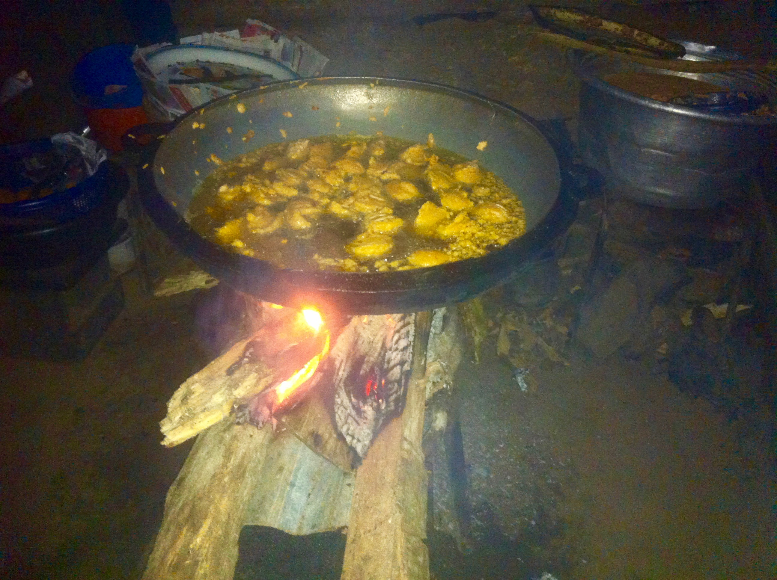 Frying akara in Ilaje, Osun Nigeria.