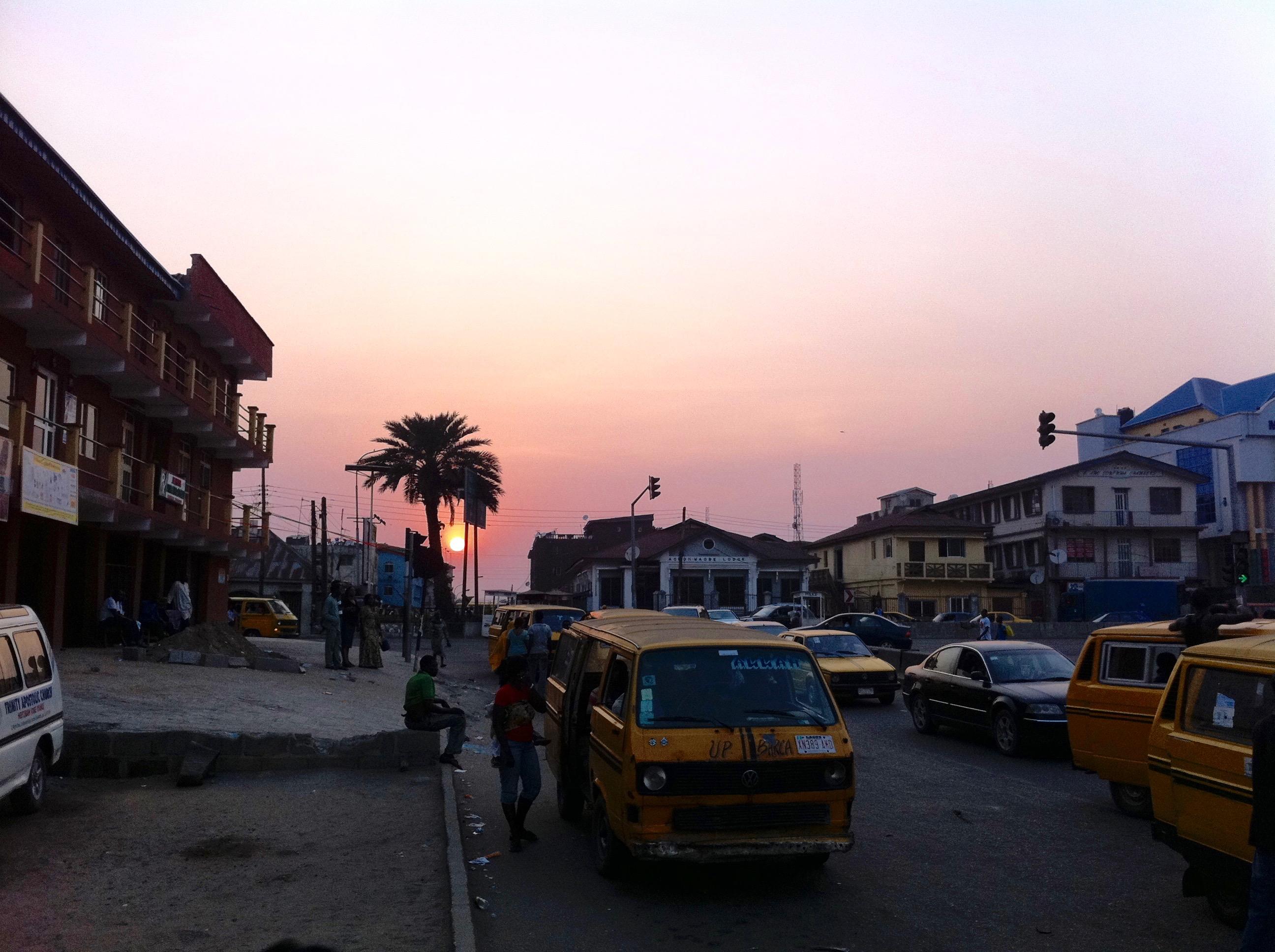 Sunset in Jibowu, Lagos, Nigeria. #JujuFilms