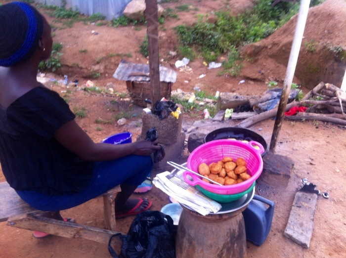Woman frying akara in Dutse, Abuja, Nigeria. #JujuFilms