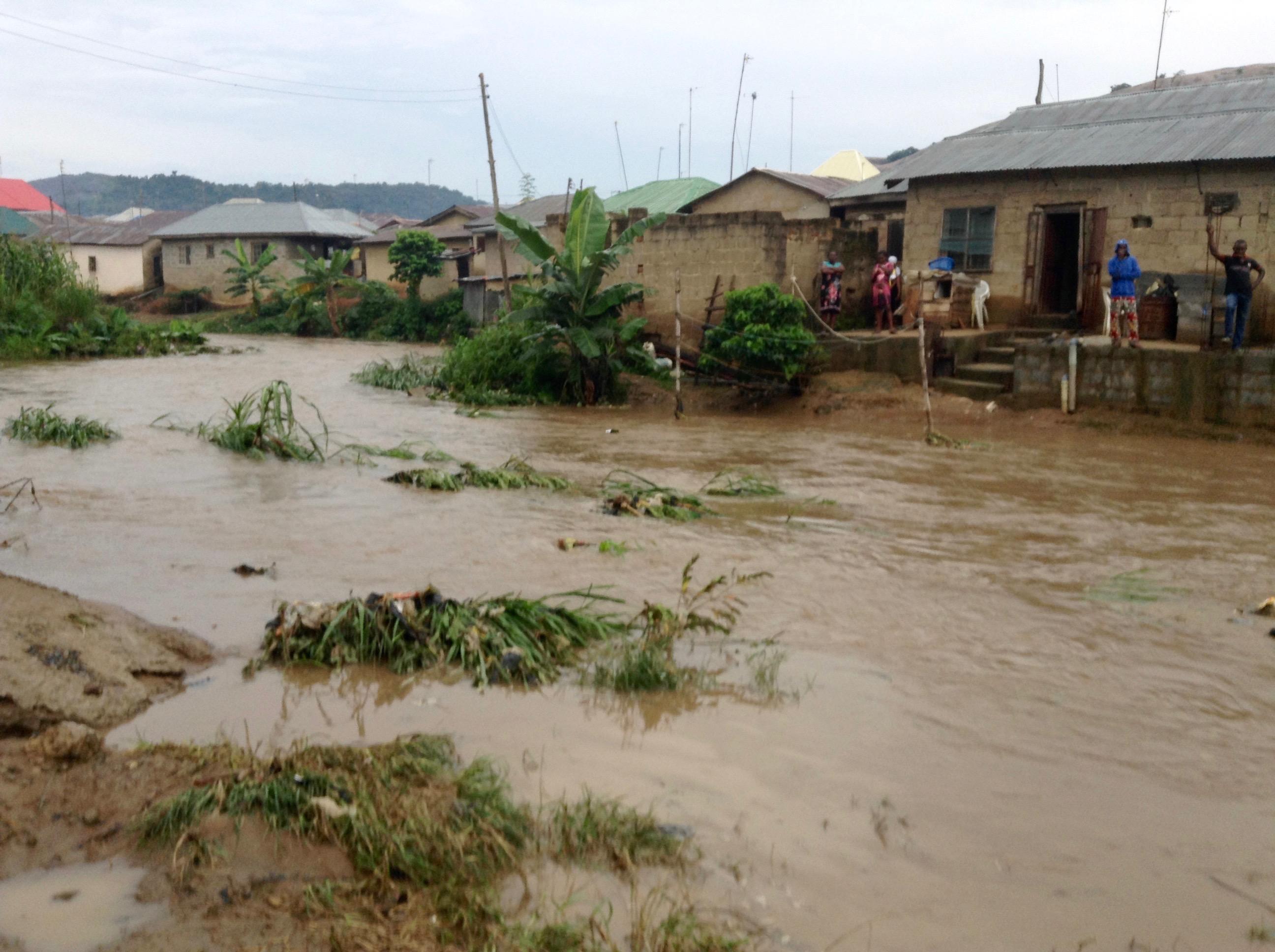 Rain flood in Ushafa Village, FCT, Nigeria. #JujuFilms