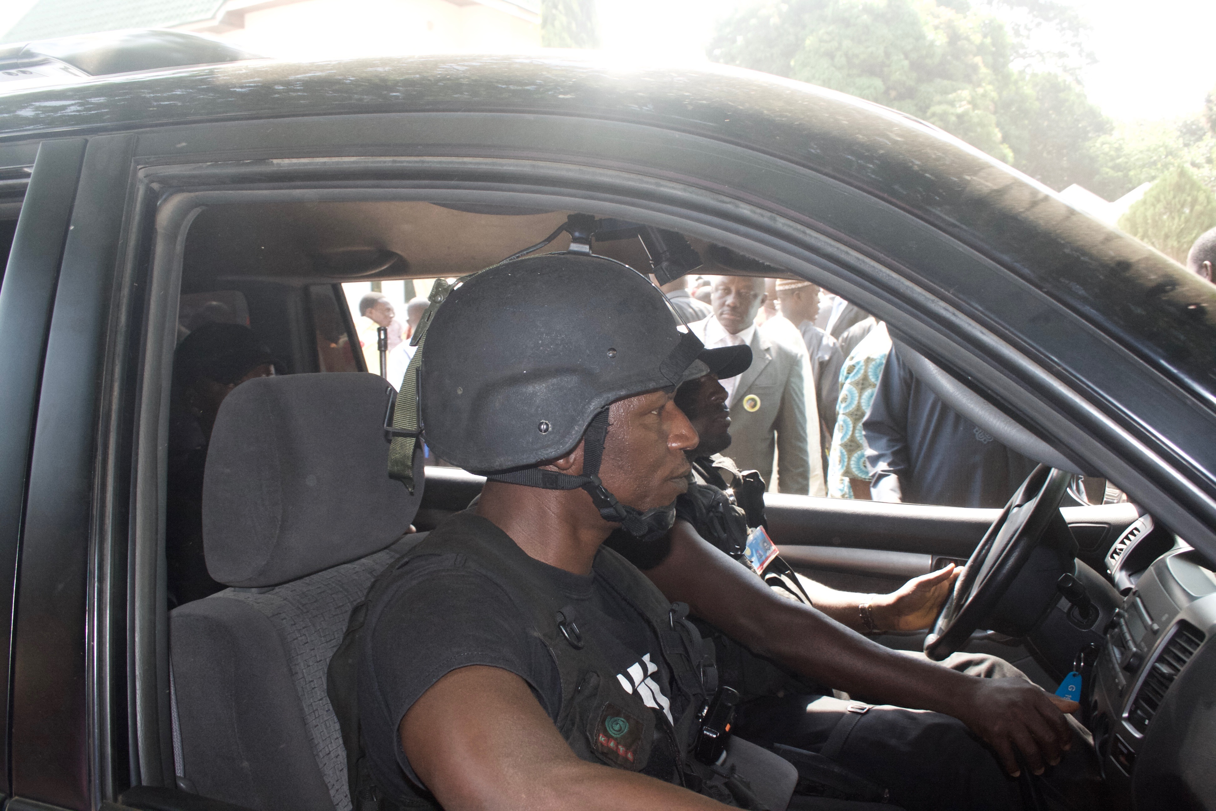 Security detail for President Goodluck Jonathan, Iyamho, Etsako West LGA, Edo, Nigeria. #JujuFilms