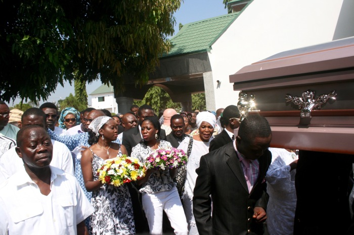 Gov Adams Oshiuomhole at the funeral of his late wife Clara Oshiuomhole in Iyamho, Etsako West LGA, Edo, Nigeria. #JujuFilms