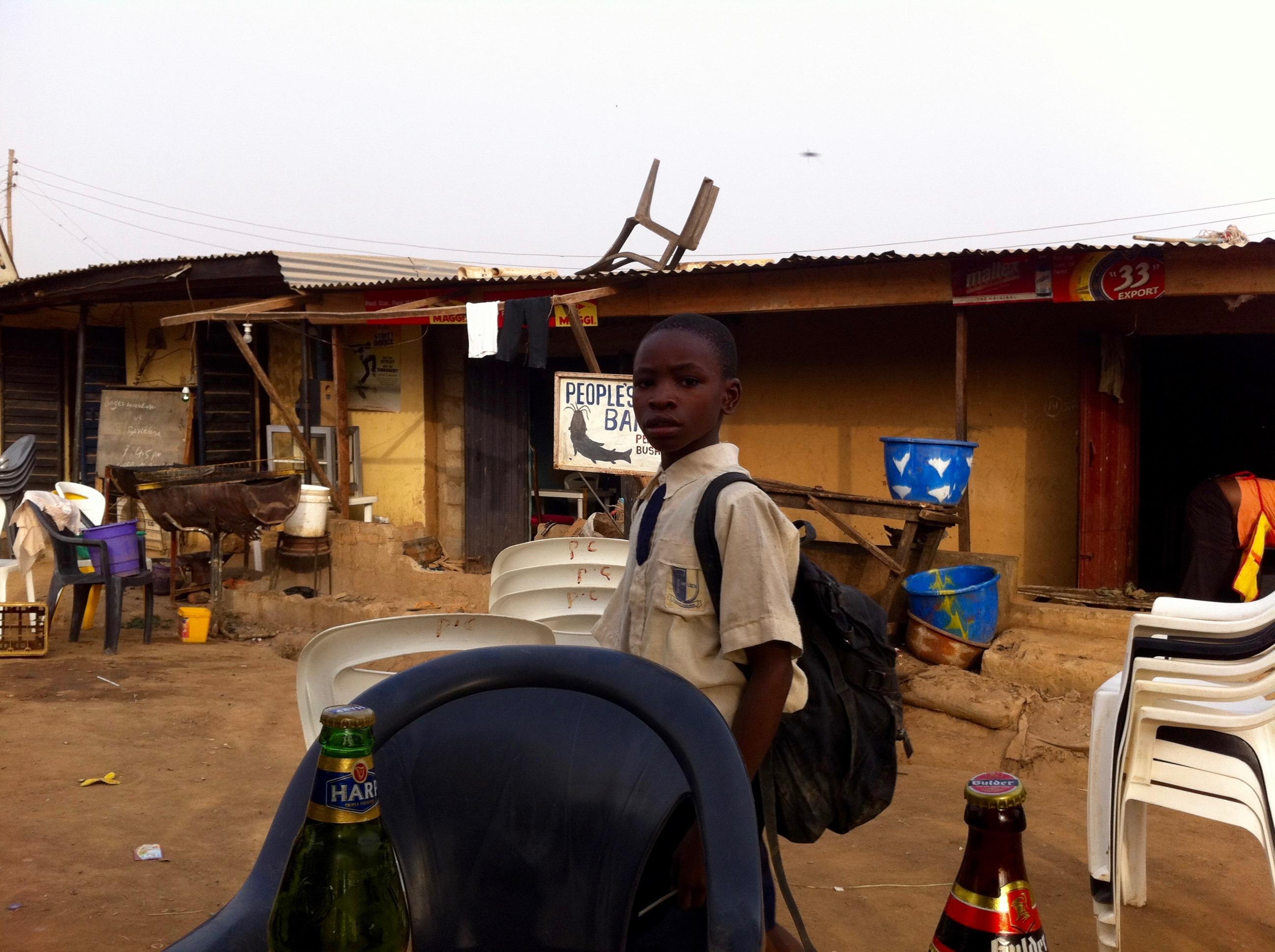 School boy in Mpape, Abuja, Nigeria. #JujuFilms