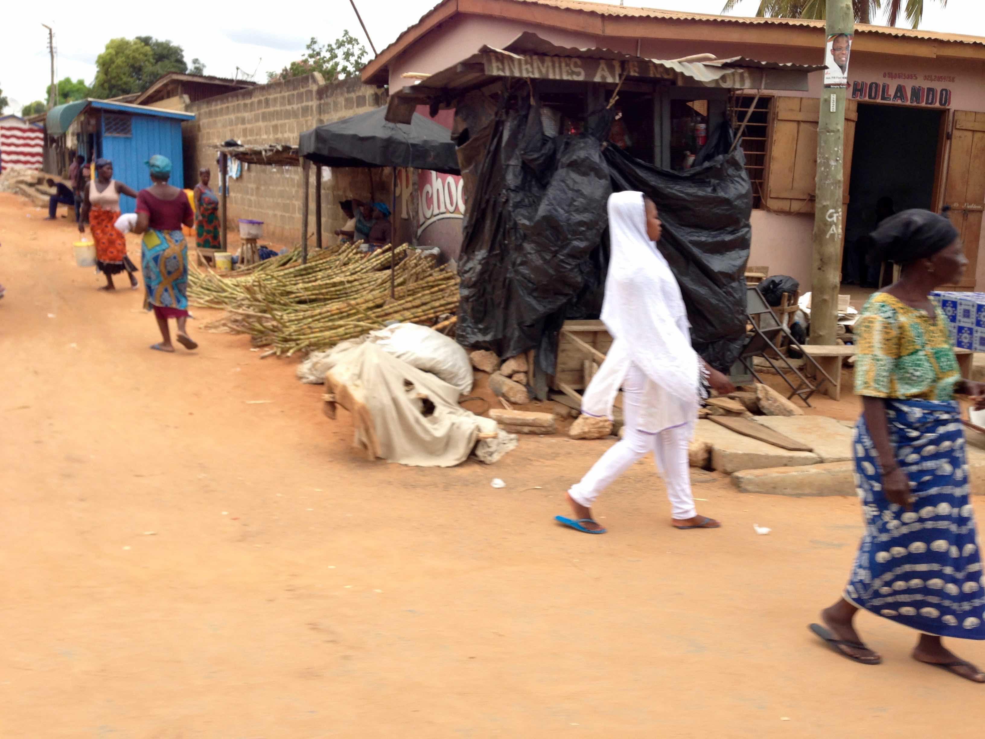 Street scene in Agbosome, Volta, Ghana. #JujuFilms