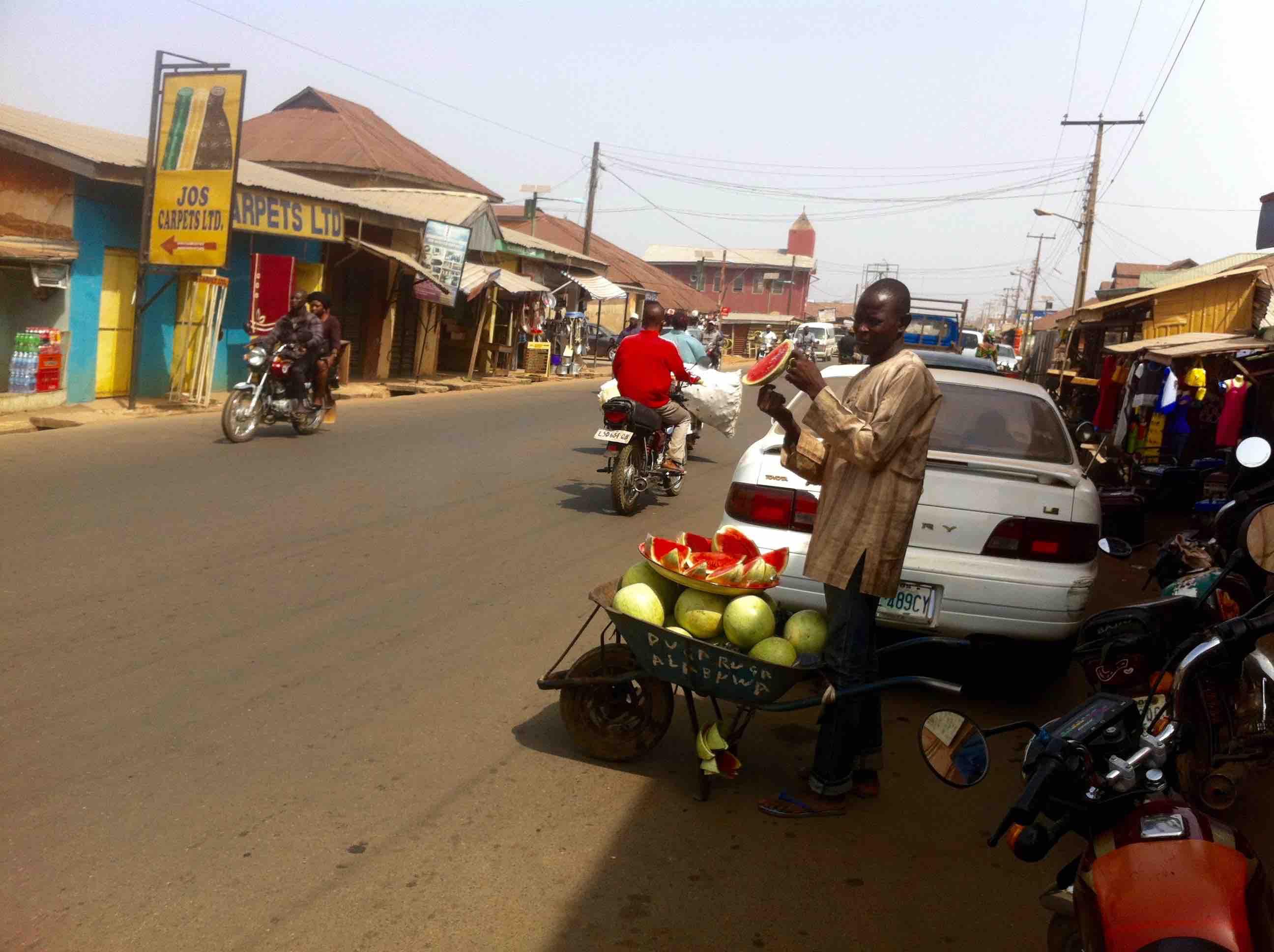 Watermelon street hawker in Isokun, Osun, Nigeria. #JujuFilms