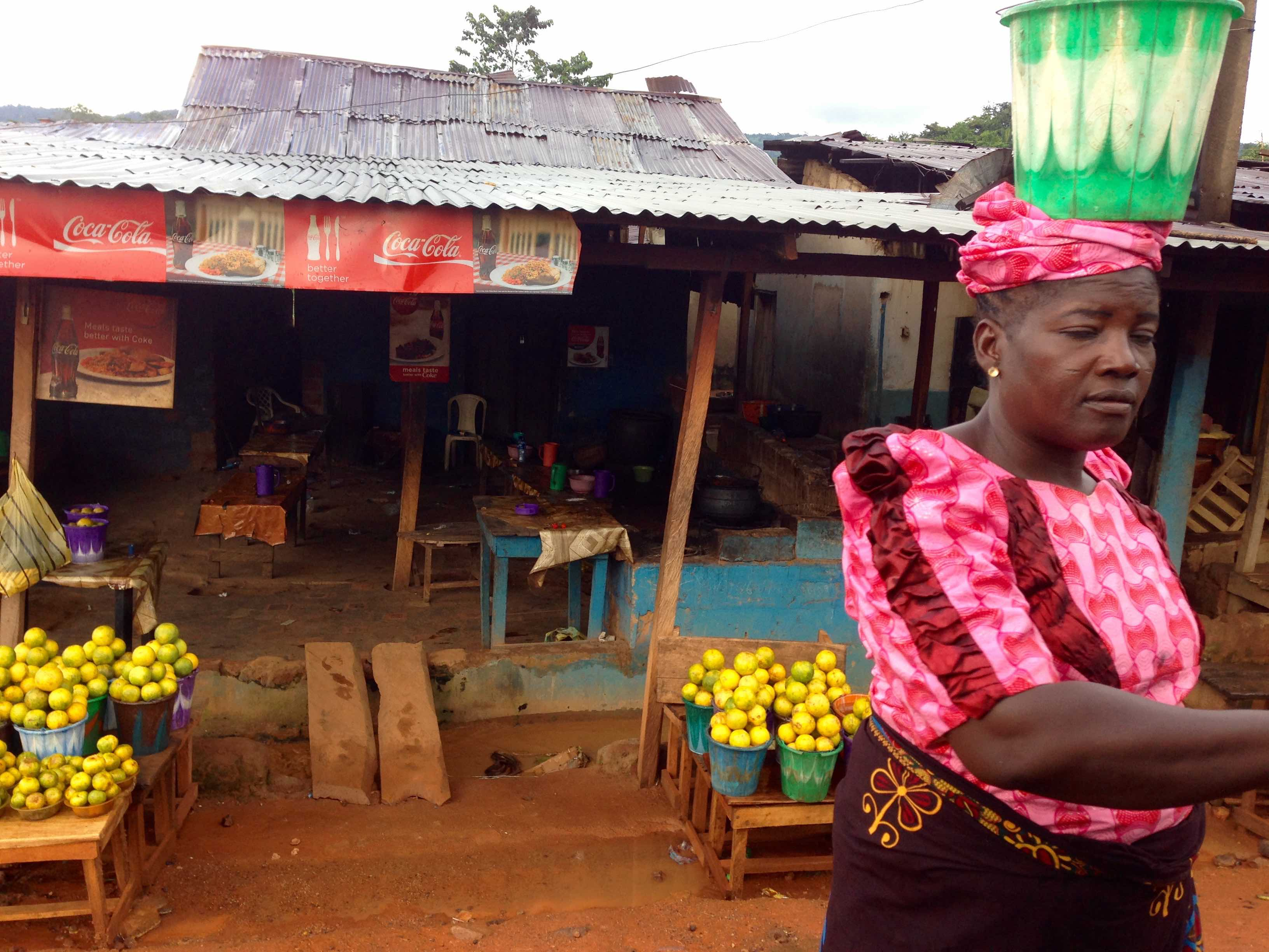 Ijesha woman roadside hawking in Erin Oke, Osun, Nigeria. #JujuFilms