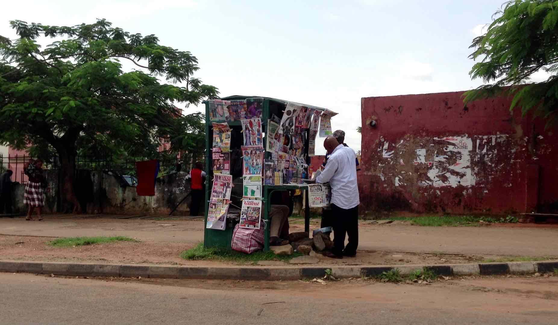 Newsstand in Abuja, Nigeria. #JujuFilms