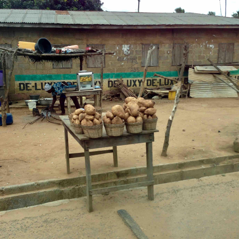 Sweet yams roadside market, Adidome, Volta, Ghana. #JujuFilms
