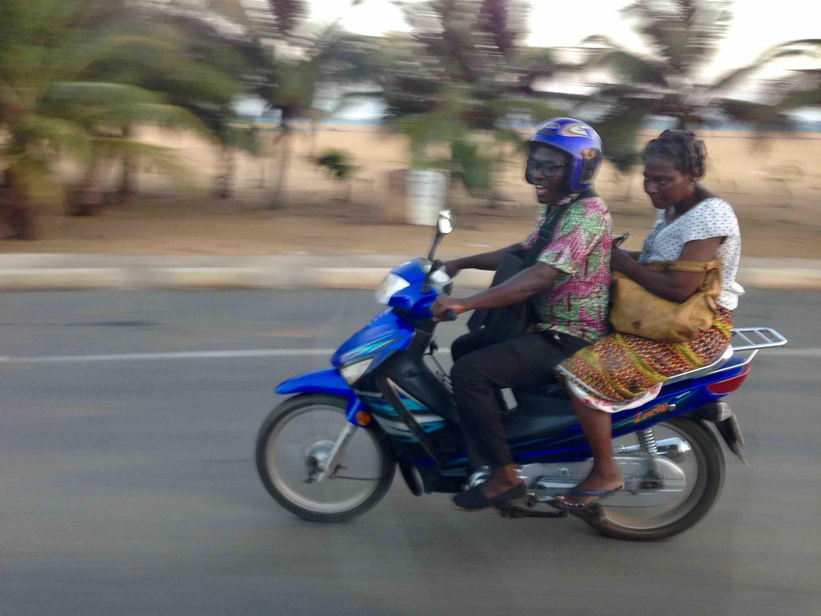 Motorcycling in Bd de la Marina, Lome, Togo. #JujuFilms