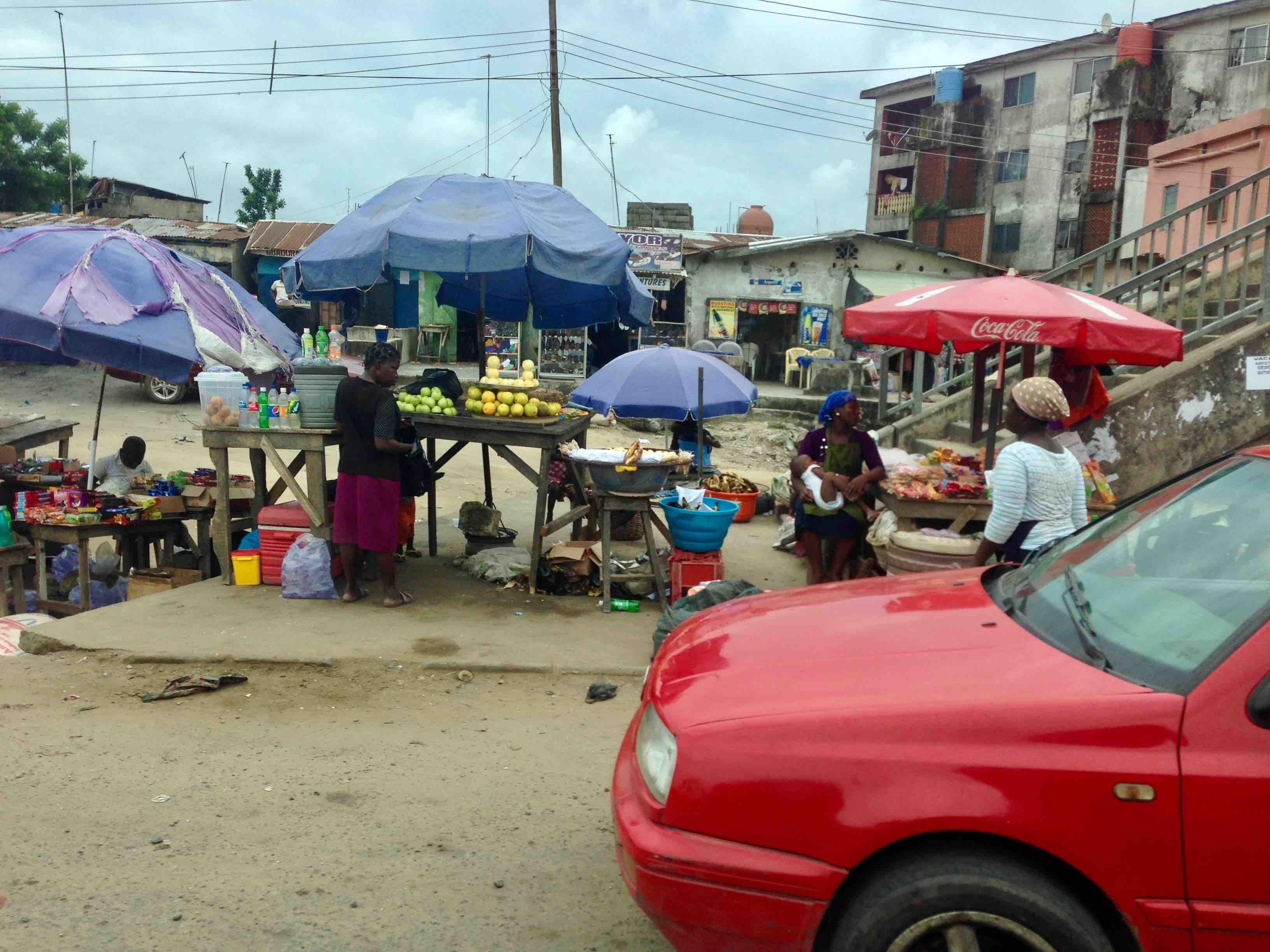 Street Market Scene, Lagos - Badagry Expressway, Lagos State, Nigeria. #JujuFilms