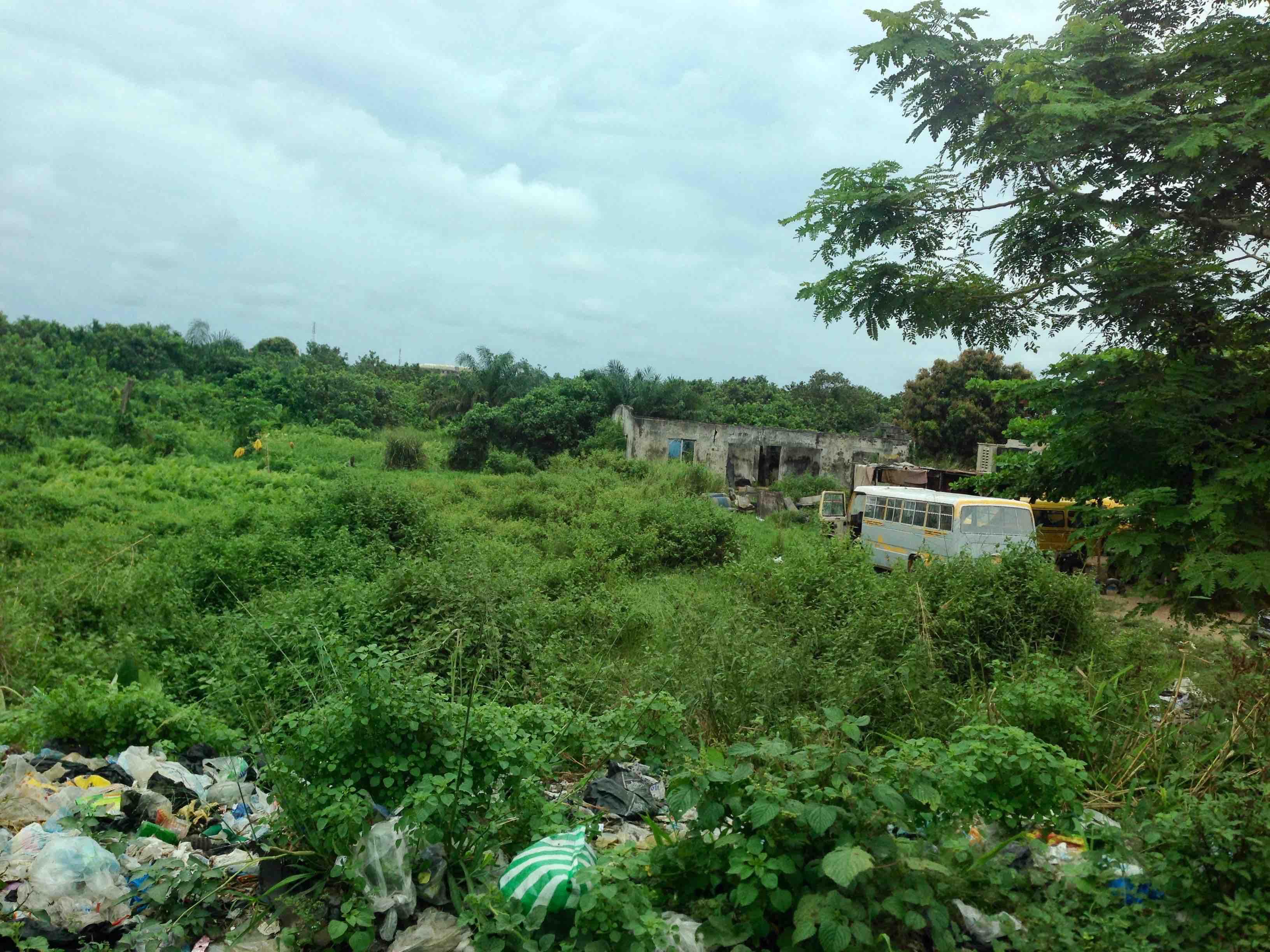 Man shitting in the bush, Lagos - Badagry Expressway, Lagos State, Nigeria. #JujuFilms