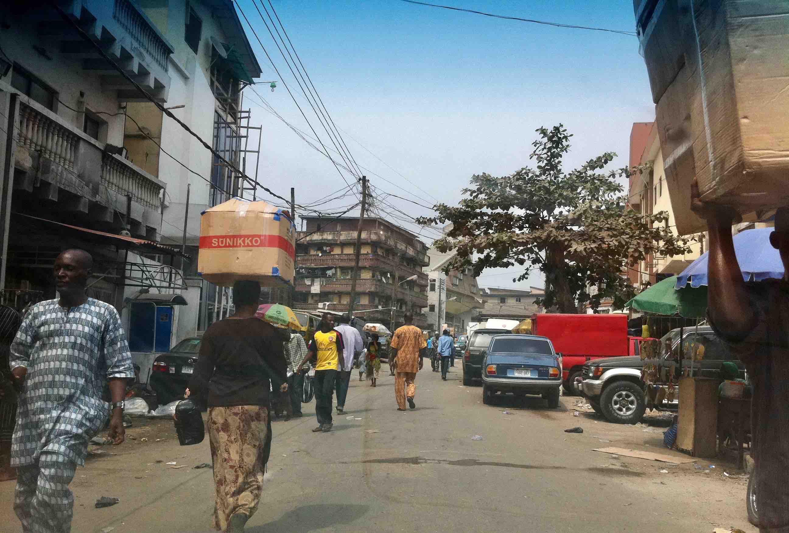 Street Scene, Iga Idunganran, Lagos Island, Lagos State, Nigeria. #JujuFilms