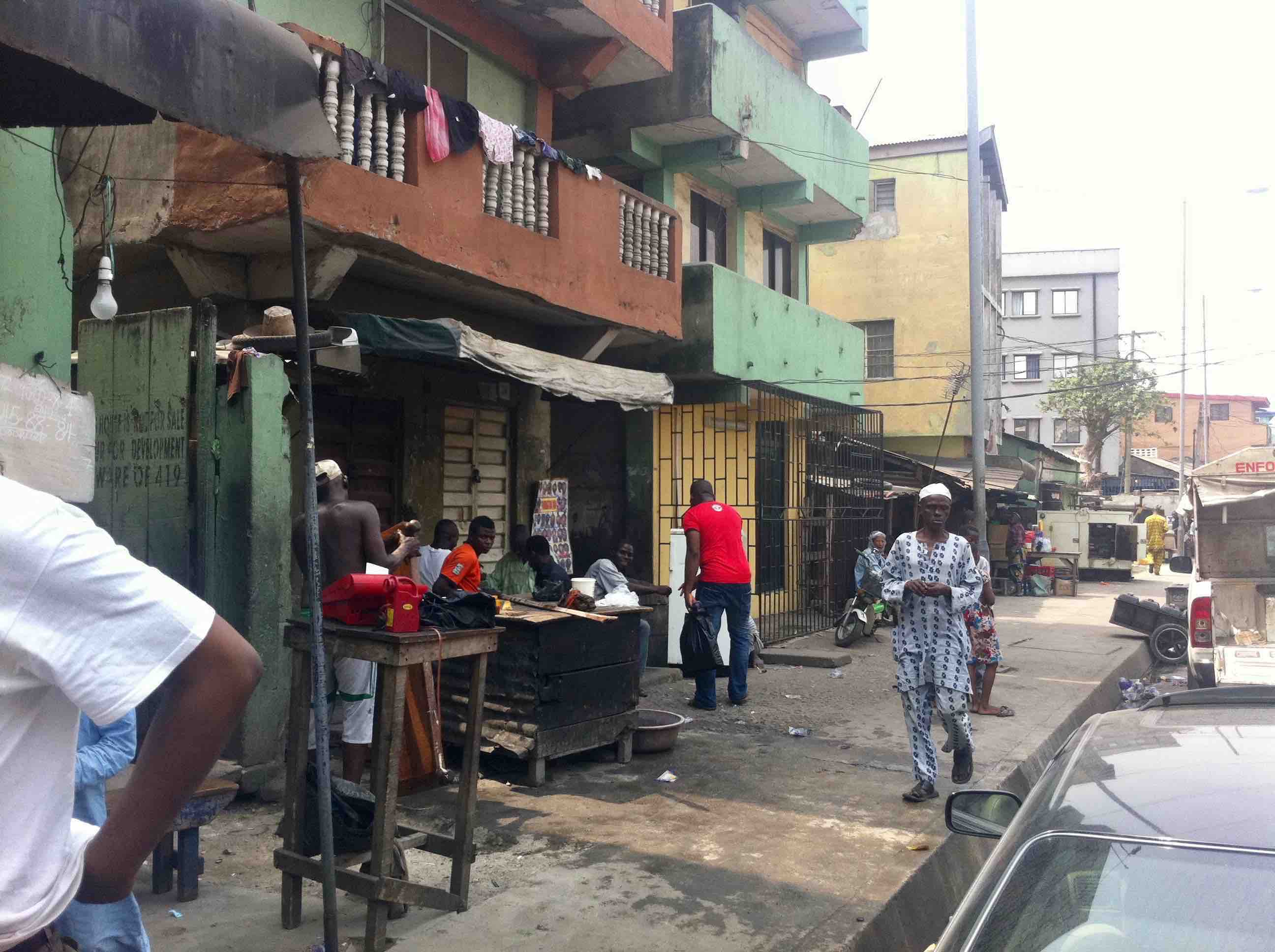 Street Scene, Bamgbose Street, Lagos Island, Nigeria. #JujuFilms