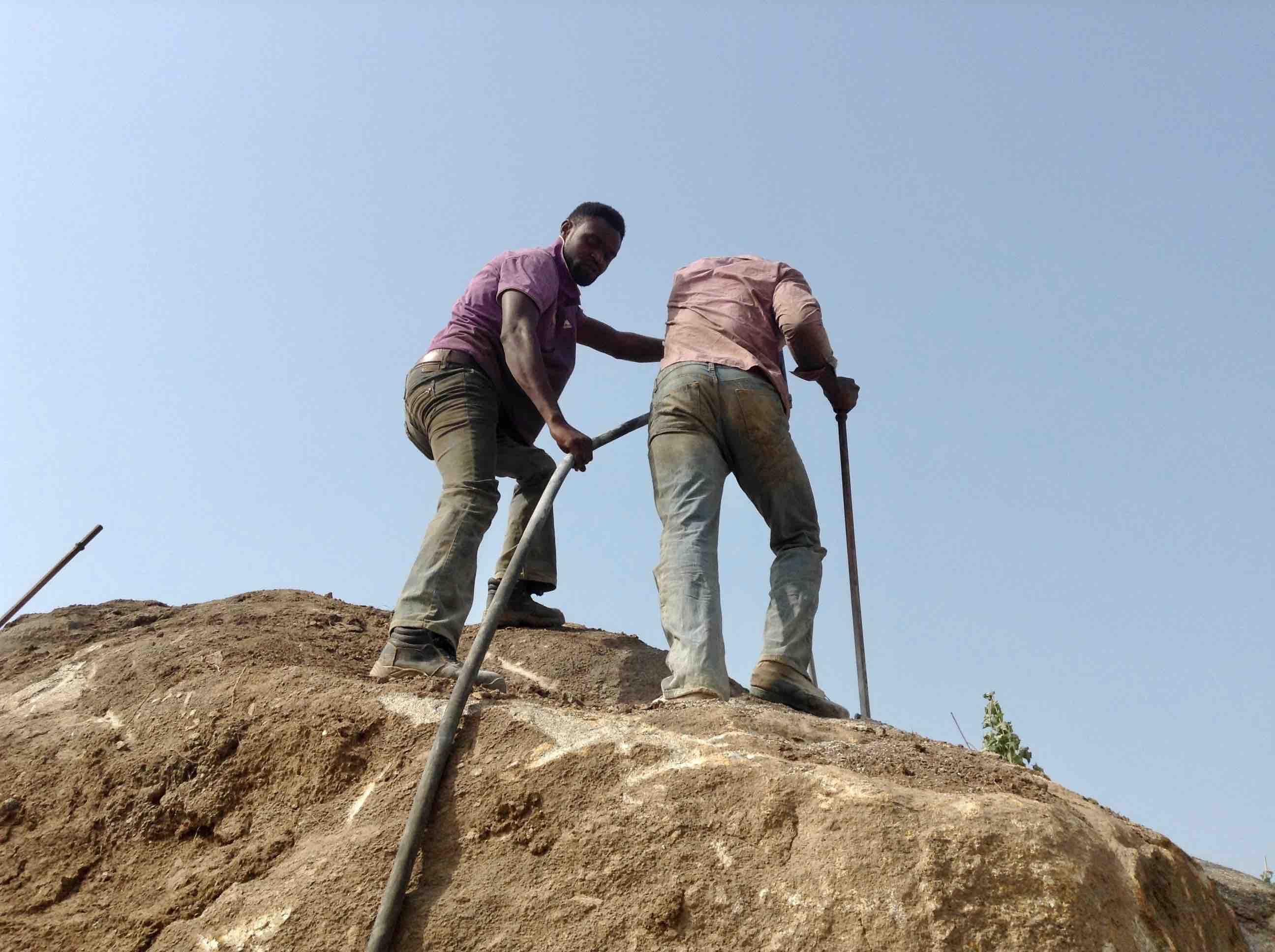 Busting Rocks, Ushafa Village, FCT, Abuja, Nigeria. #JujuFilms