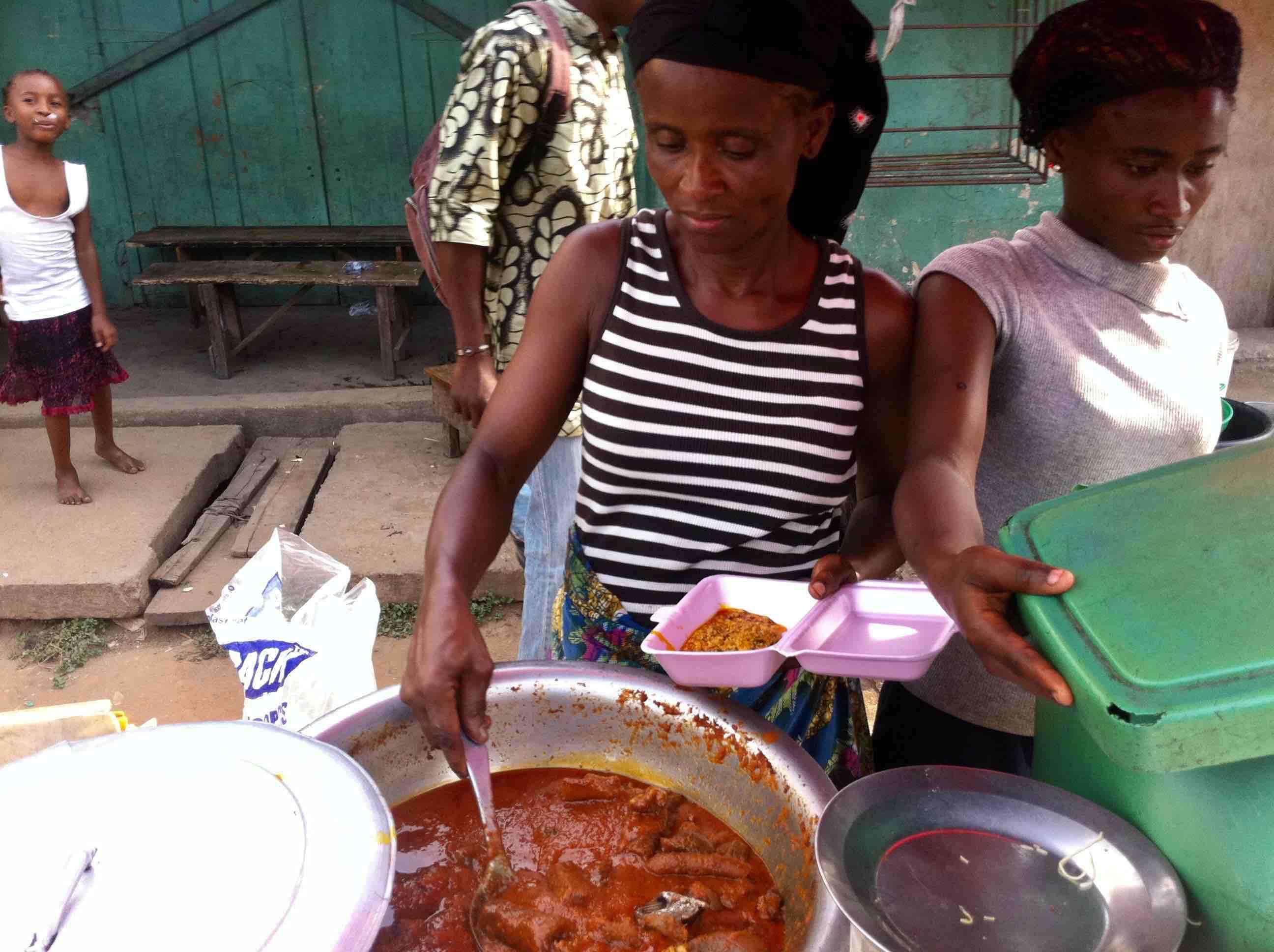 Serving Street Food, Osborne Road, Lagos Island, Nigeria. #JujuFilms
