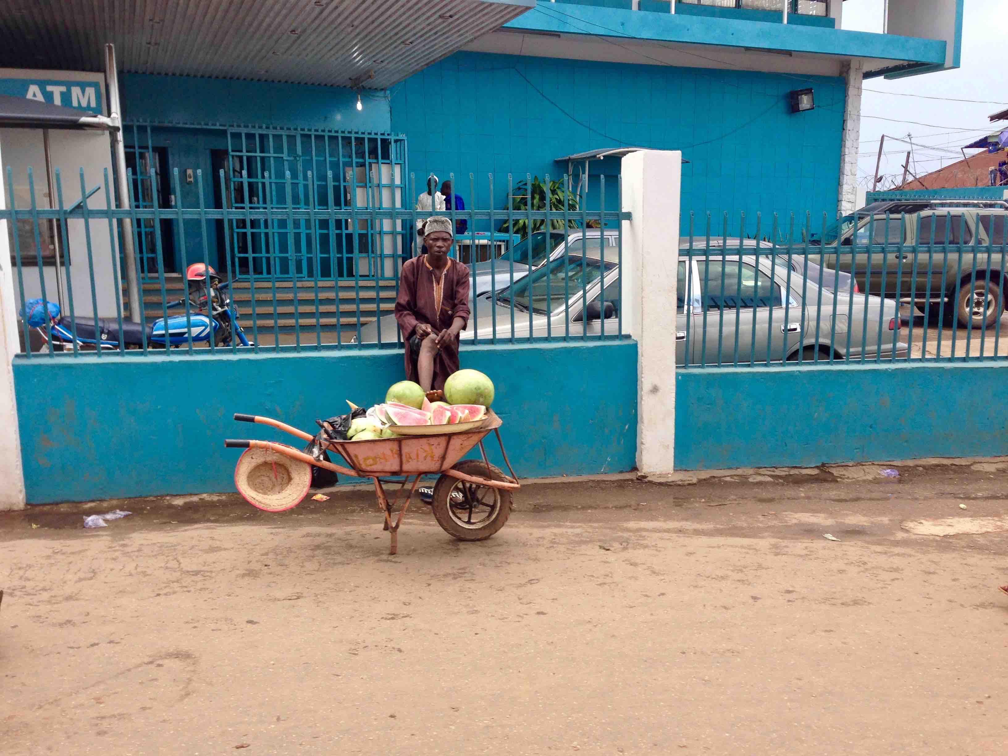 Watermelon Street Hawker, Adimula Palace Roundabout, Ilesa, Osun State, Nigeria. #JujuFilms