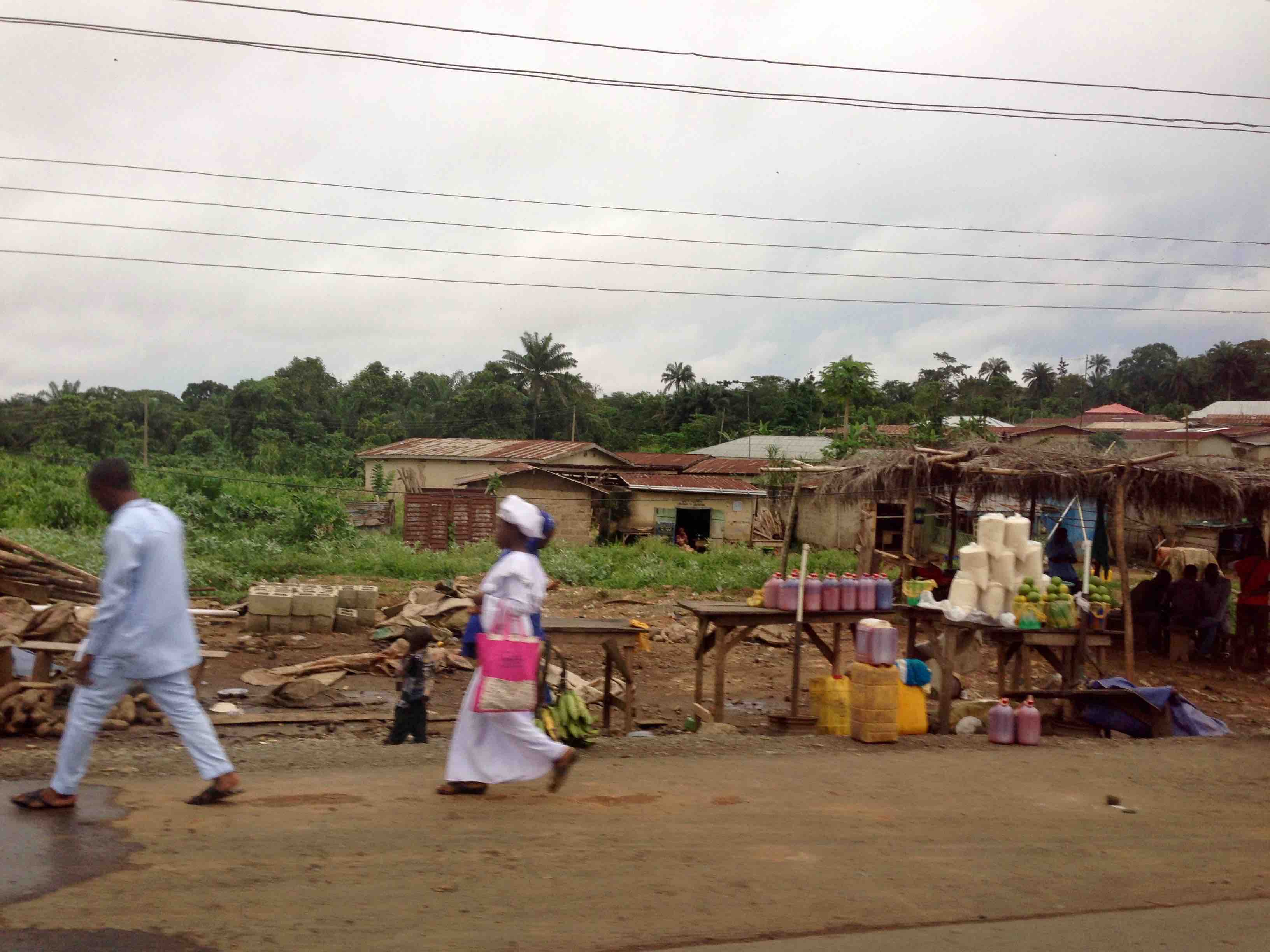Roadside market in Igbara Oke, Ondo State, Nigeria. #JujuFilms