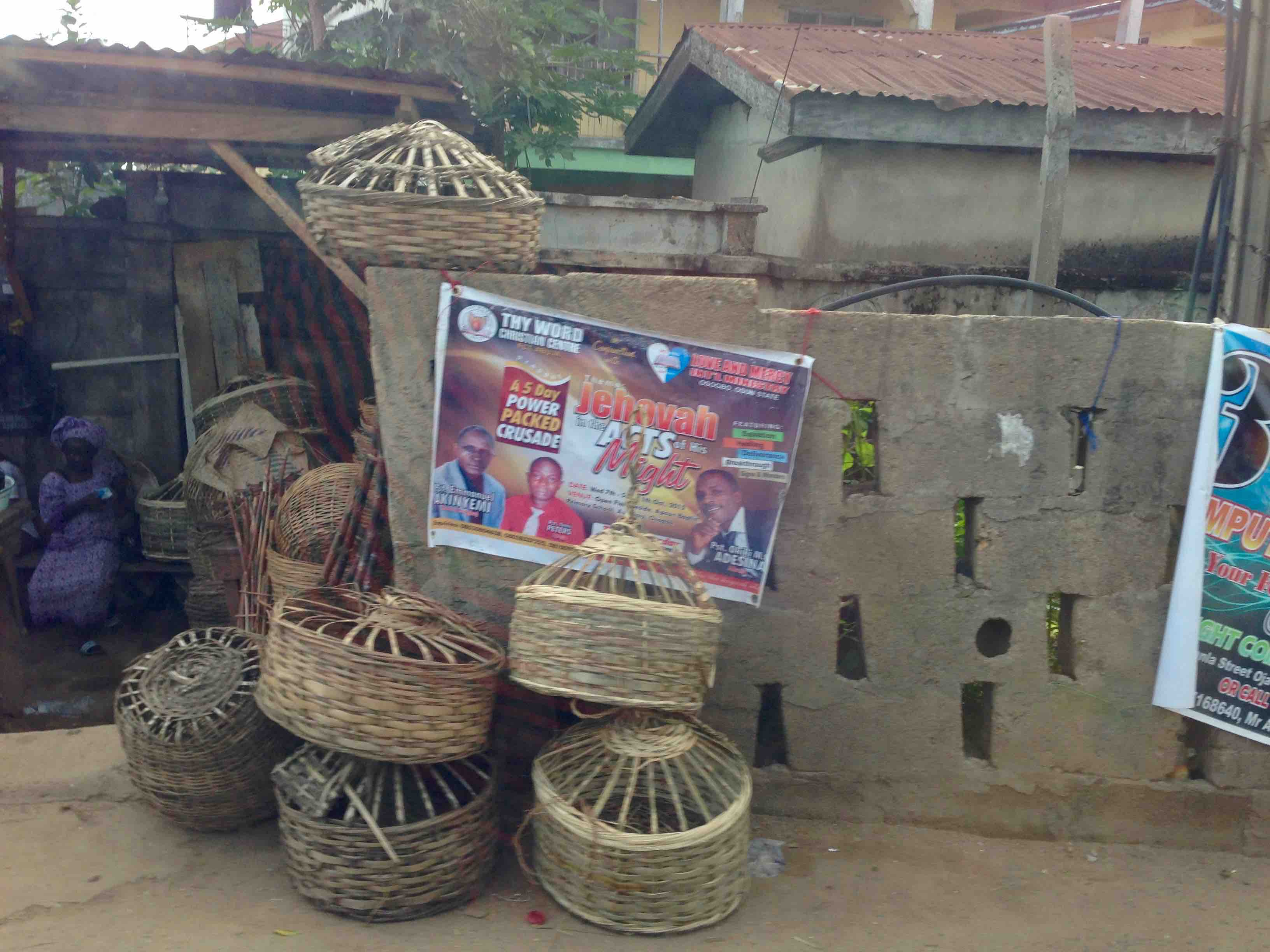 Chicken baskets, Oshogbo, Osun, Nigeria. #JujuFilms