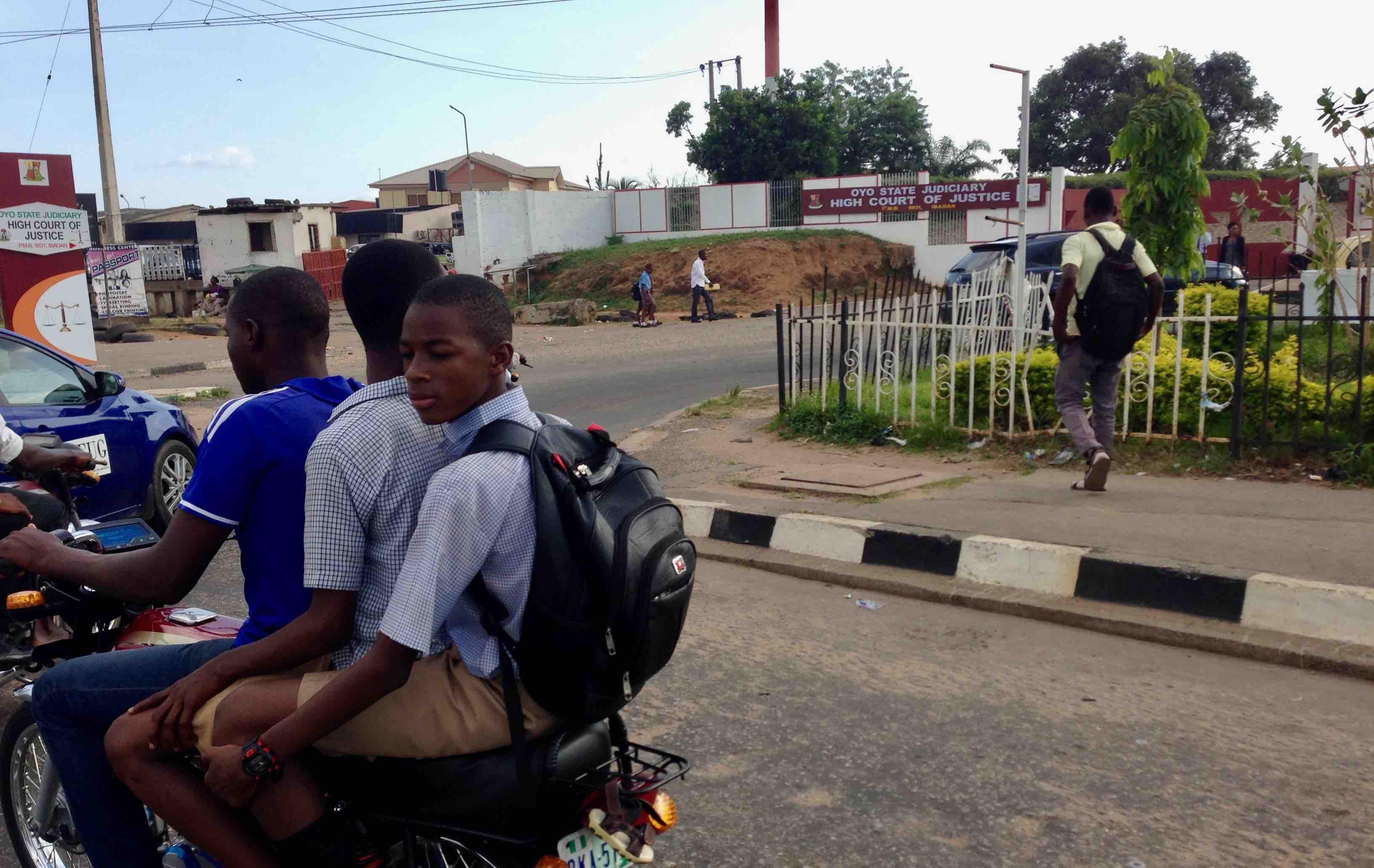 Motorcycling, Oyo State Judiciary High Court of Justice, Liberty Stadium Road, Ibadan, Oyo State, Nigeria. #JujuFilms