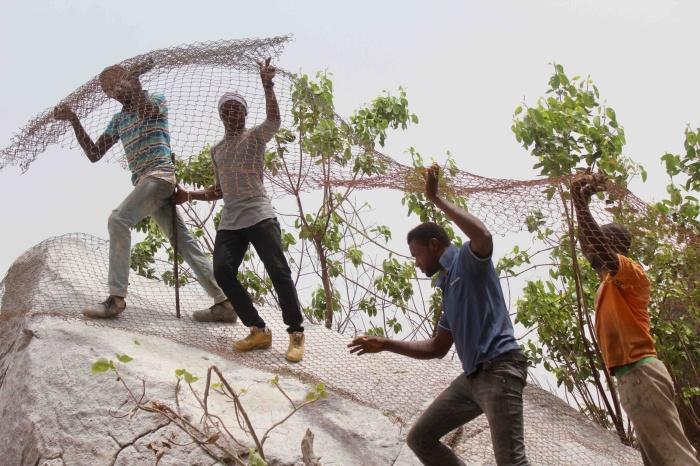 Drilling and blasting rocks, Ushafa Village, FCT, Abuja, Nigeria. #JujuFilms