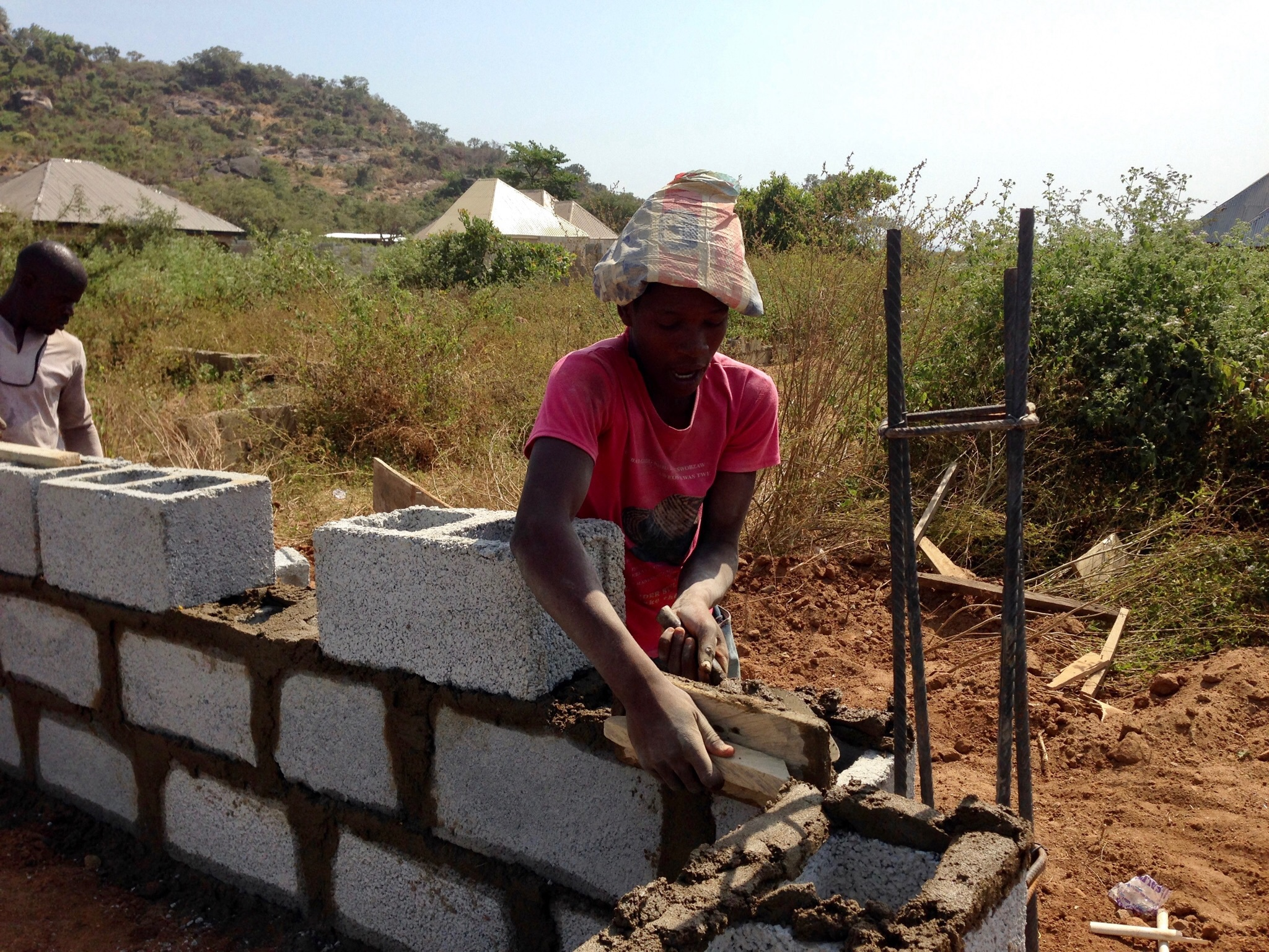 Abayomi 16, is a skilled mason in Ushafa Village, FCT, Abuja, Nigeria. #JujuFilms