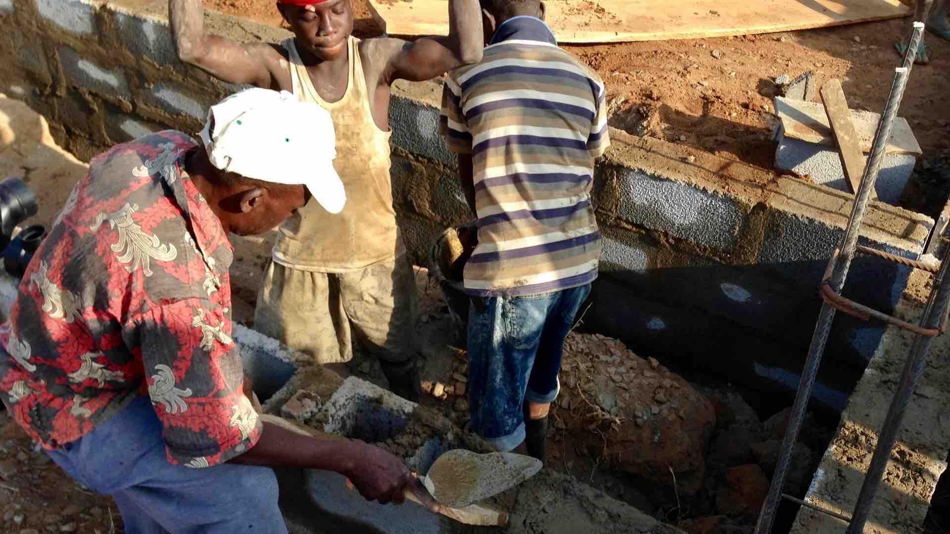 Construction Juju Films Ushafa Village, Nigeria.