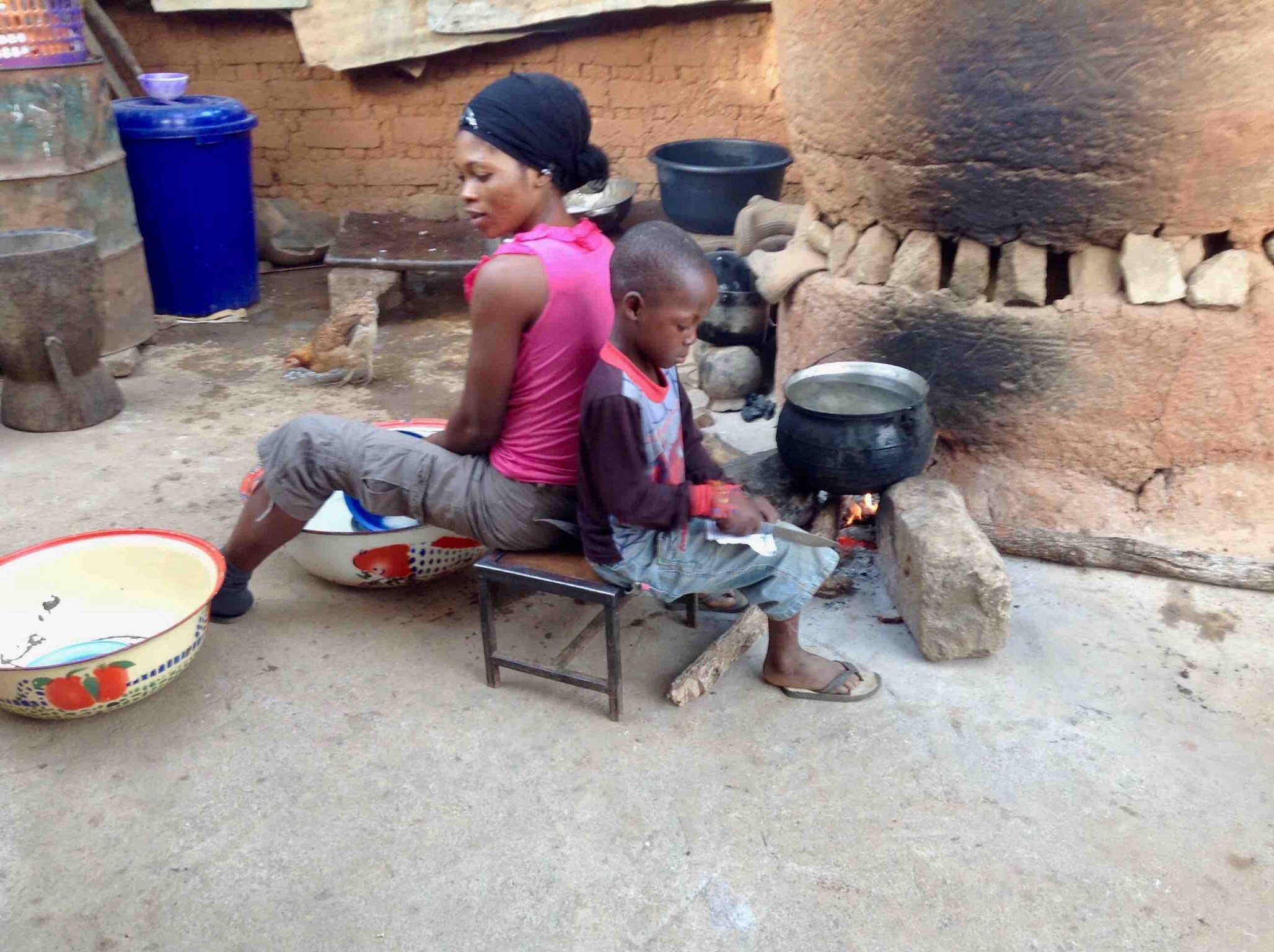 Lendere, (Wamba) mother and son in Langa Langa Village, Nasarawa State, Nigeria. #JujuFilms