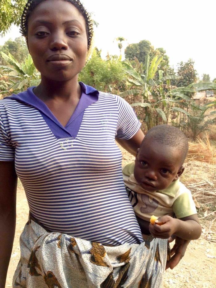 Eggon mother and child in Langa Langa Village, Nasarawa State, Nigeria. #JujuFilms