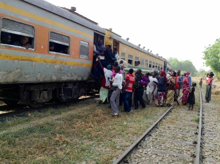 Catching a moving train, Langa Langa train station, Langa Langa Village, Nasarawa State, Nigeria. #JujuFilms