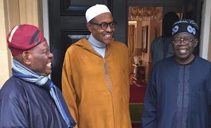 Asiwaju Bola Tinubu and Bisi Akande visit President Muhammadu Buhari in London, England. #JujuFilms