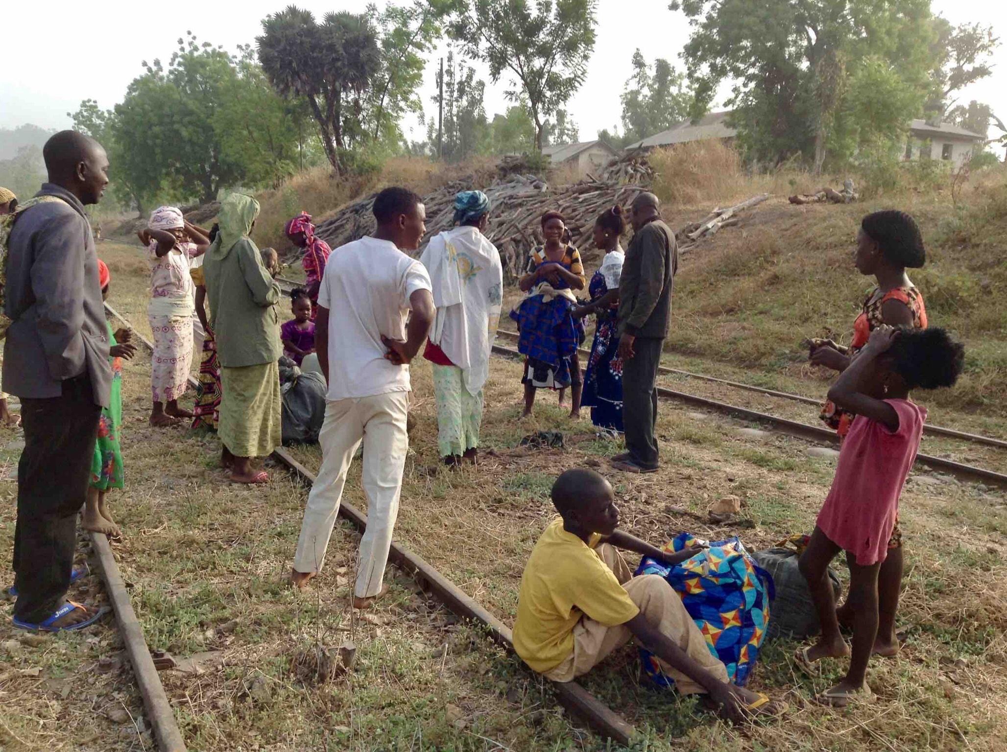 Waiting to catch a moving train, Langa Langa Station, Nasarawa State, Nigeria. #JujuFilms