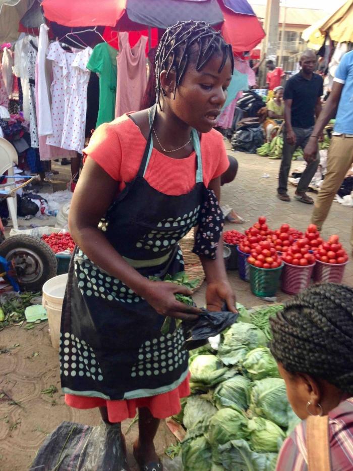 Scent leaf lady, Dutse Market, Dutse, FCT, Abuja, Nigeria. #JujuFilms