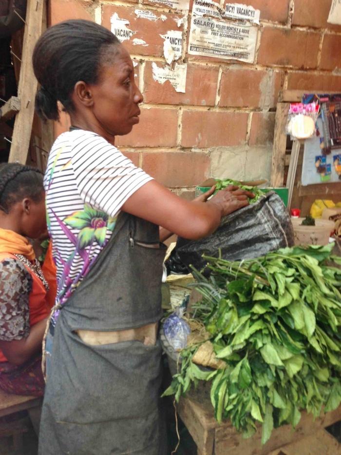 Scent leaf and Ugwu, Dutse Market, Dutse, Nigeria. #JujuFilms
