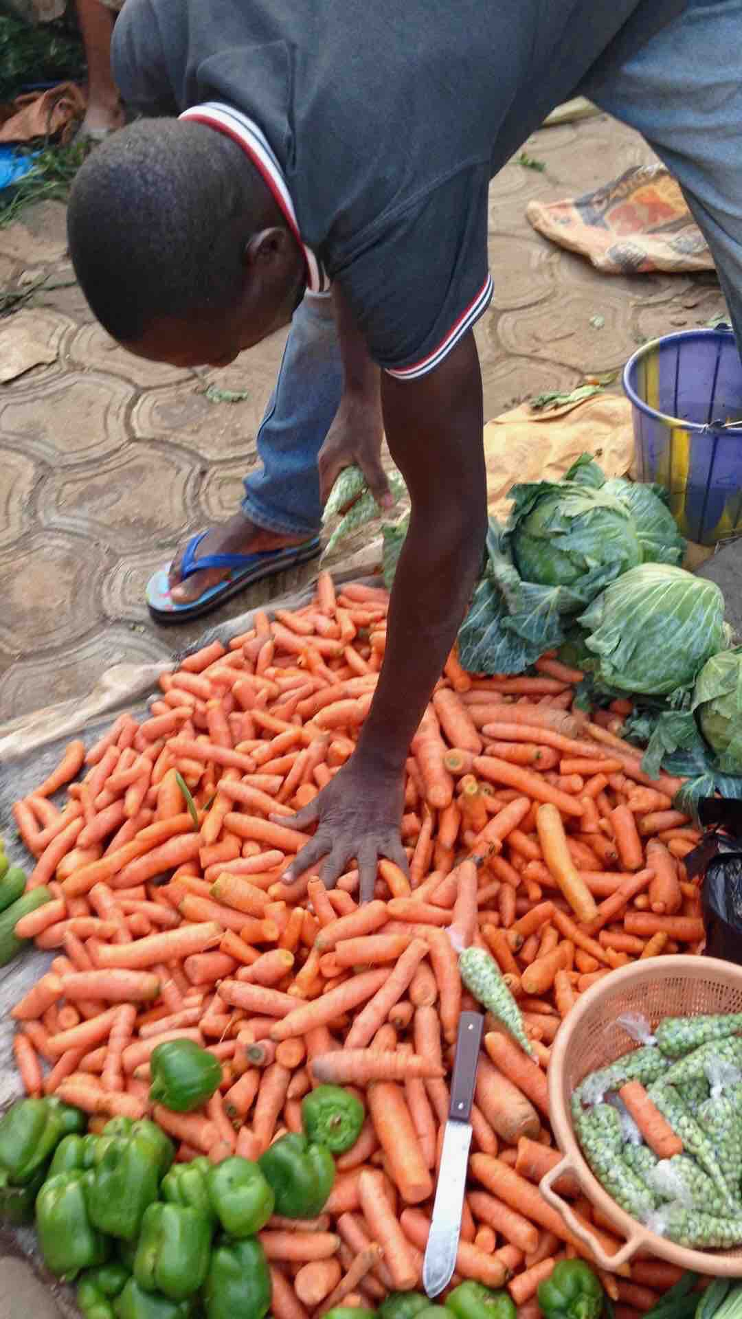 Carrots and cabbage, Dutse Market, Dutse, Nigeria. #JujuFilms