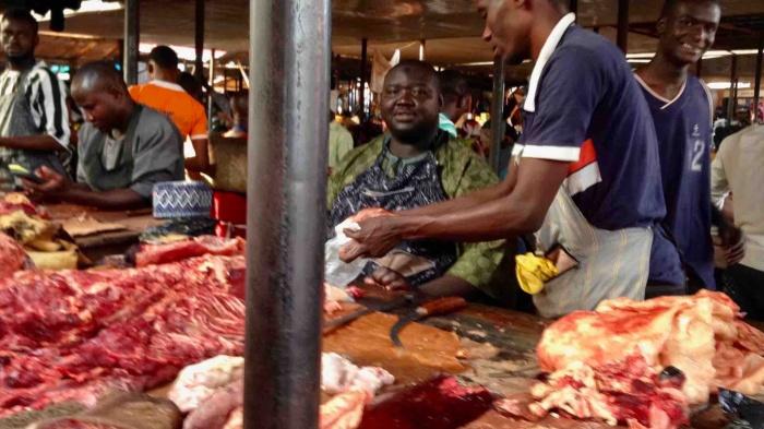 Master butcher Alhaji,  Dutse Market, Dutse, Nigeria. #JujuFilms